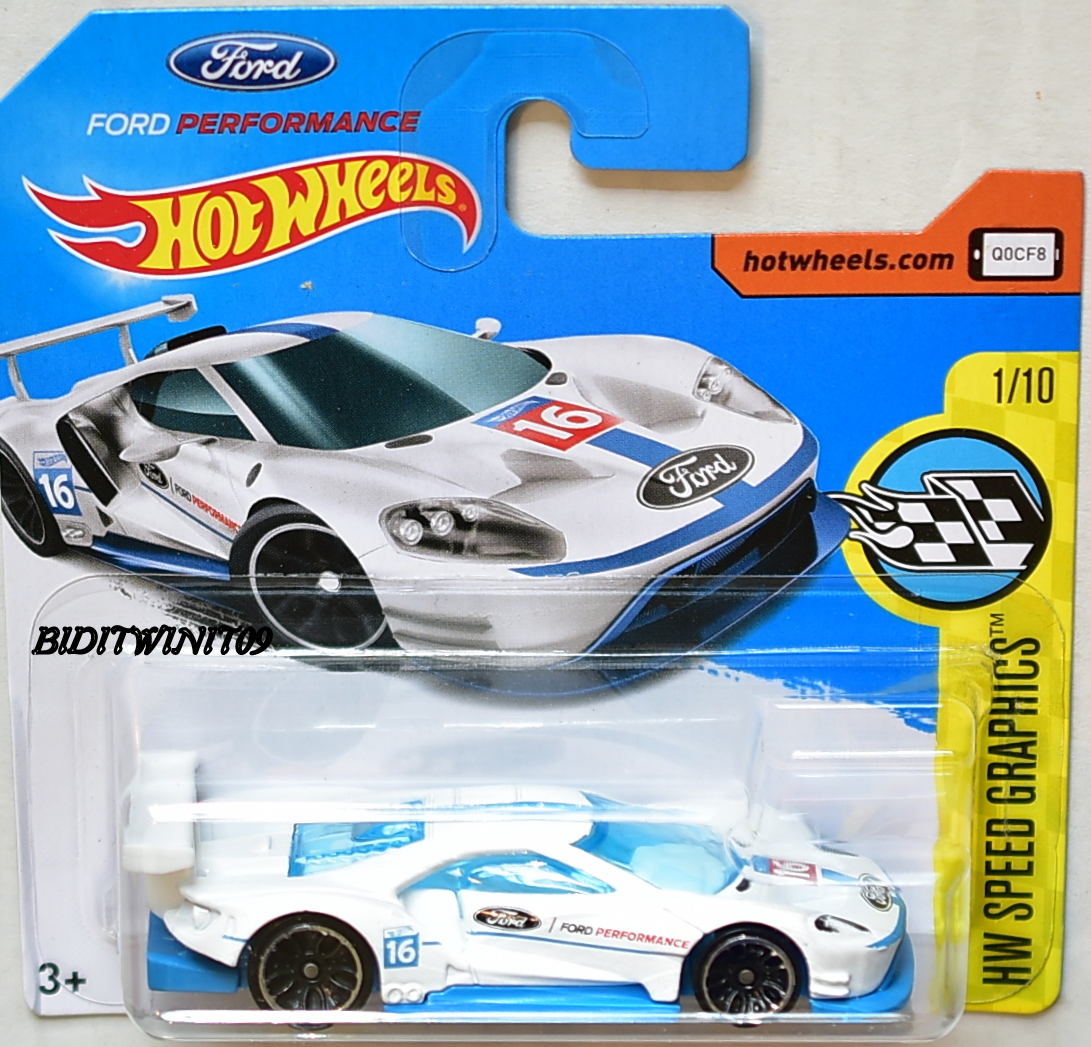 Hot Wheels  Hw Speed Graphics  Ford Gt Race   White Short