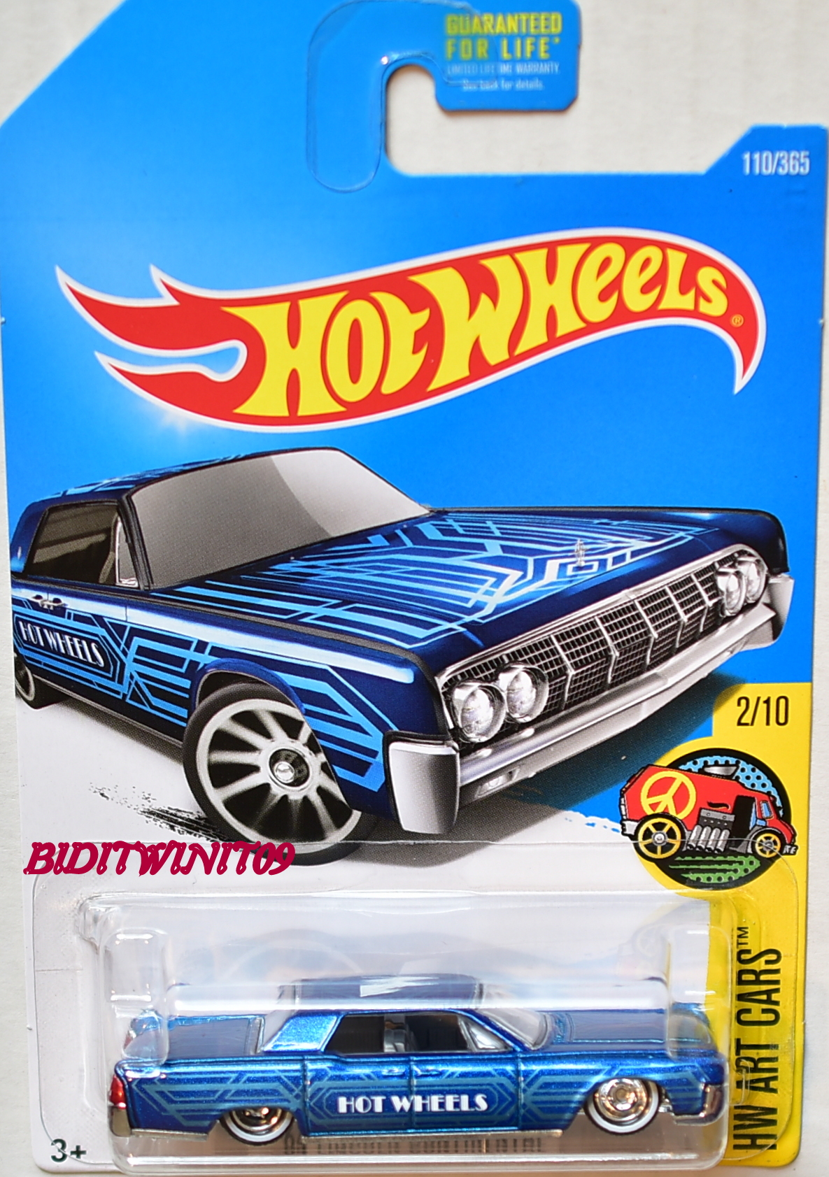 hot wheels 2017 hw art cars 64 lincoln continental brown. Black Bedroom Furniture Sets. Home Design Ideas