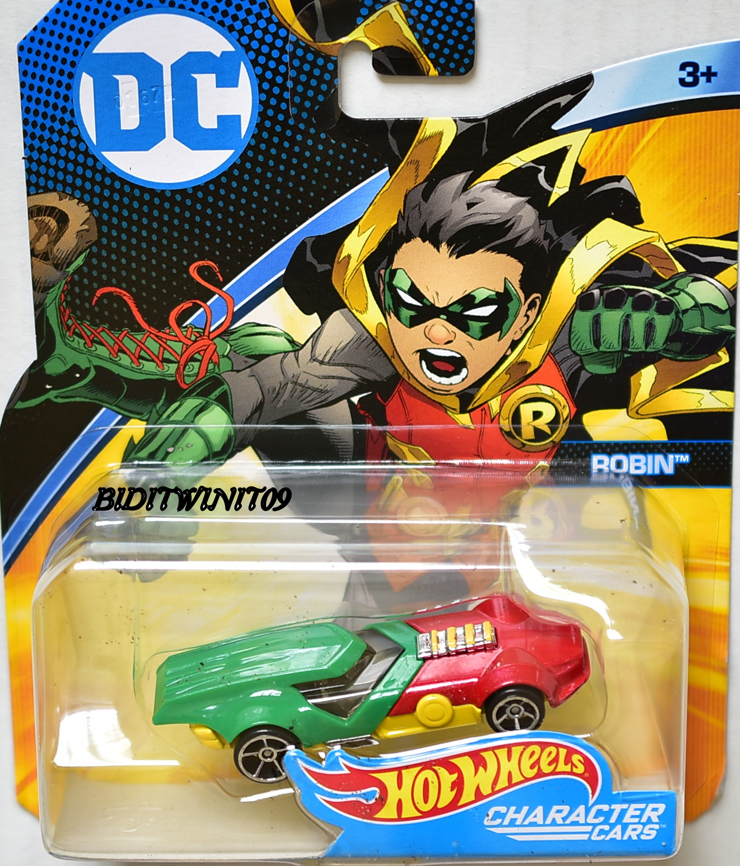 HOT WHEELS 2017 DC COMICS ROBIN CHARACTER CARS