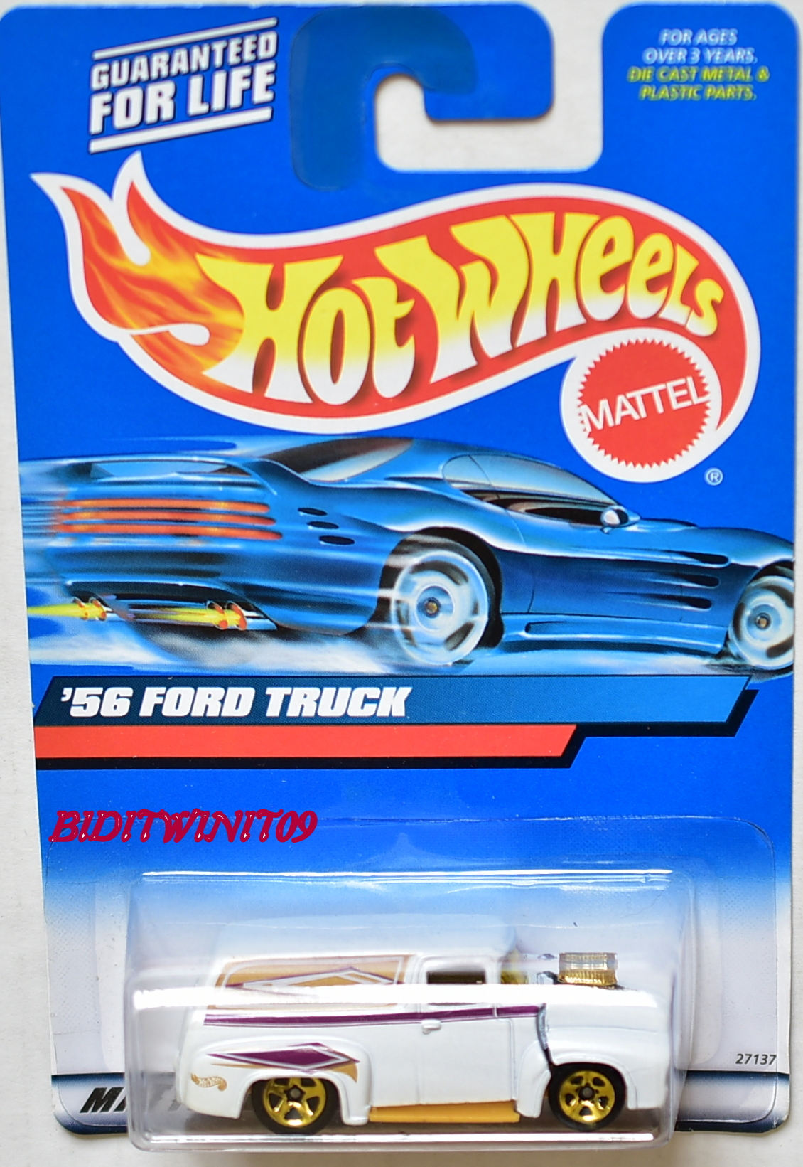 HOT WHEELS 2000 '56 FORD TRUCK #171 WHITE