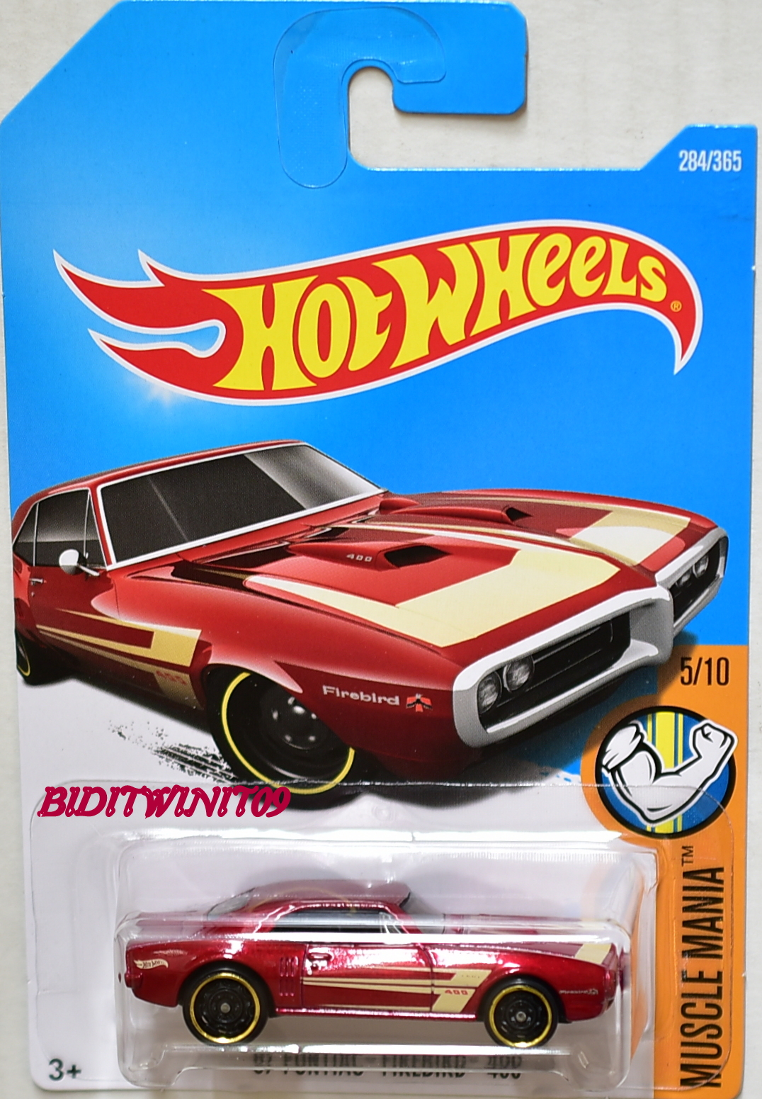 HOT WHEELS 2017 MUSCLE MANIA '67 PONTIAC FIREBIRD 400 #5/10 RED