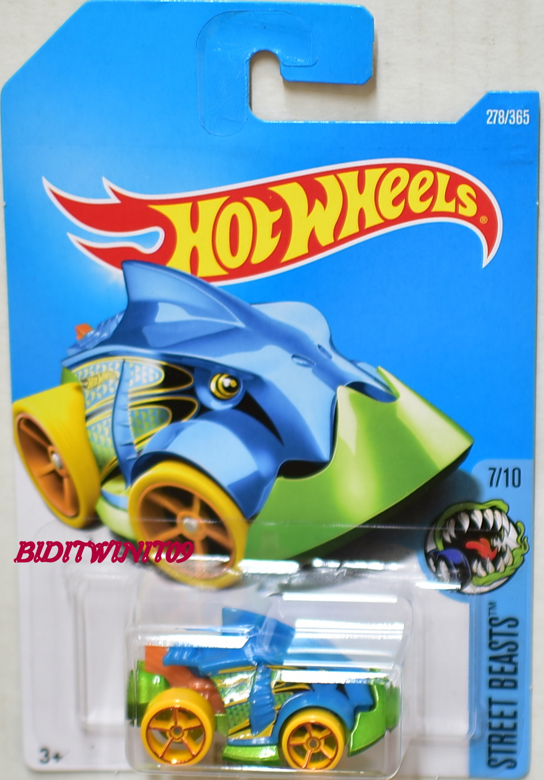 HOT WHEELS 2017 STREET BEASTS PIRANHA TERROR #7/10