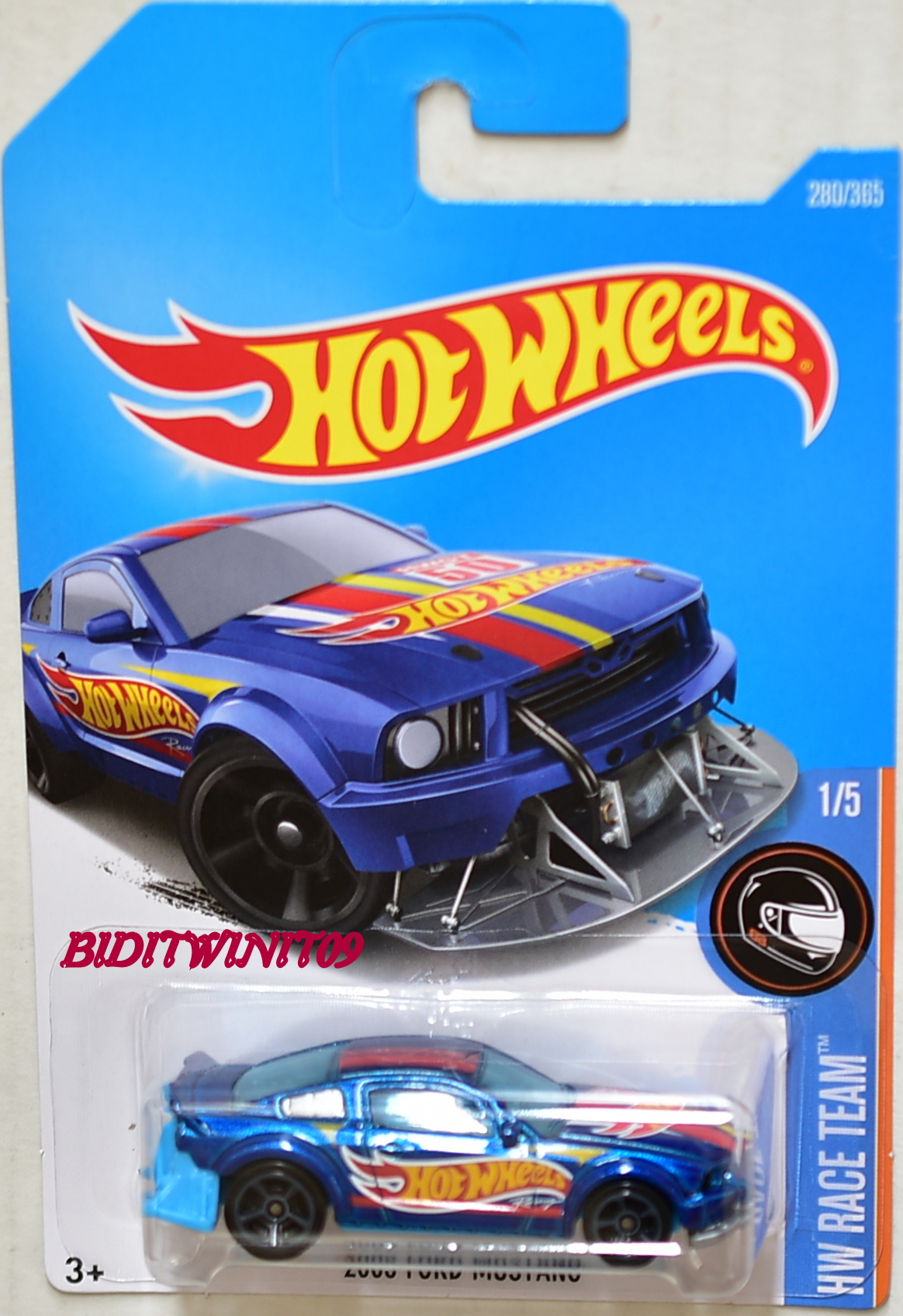 HOT WHEELS 2017 HW RACE TEAM 2005 FORD MUSTANG #1/5 BLUE