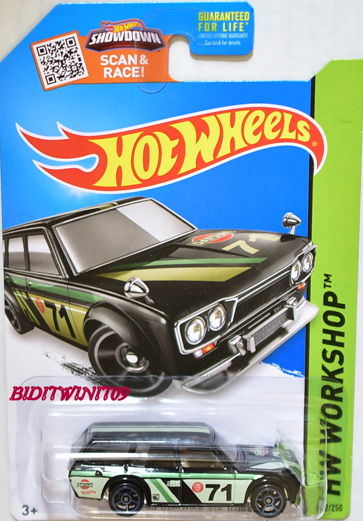 HOT WHEELS 2015 HW WORKSHOP '71 DATSUN BLUEBIRD 510 WAGON BLACK KMART EXCLUSIVE