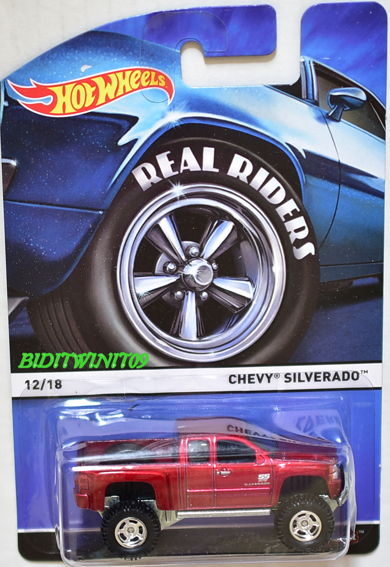 HOT WHEELS REAL RIDERS CHEVY SILVERADO #12/18