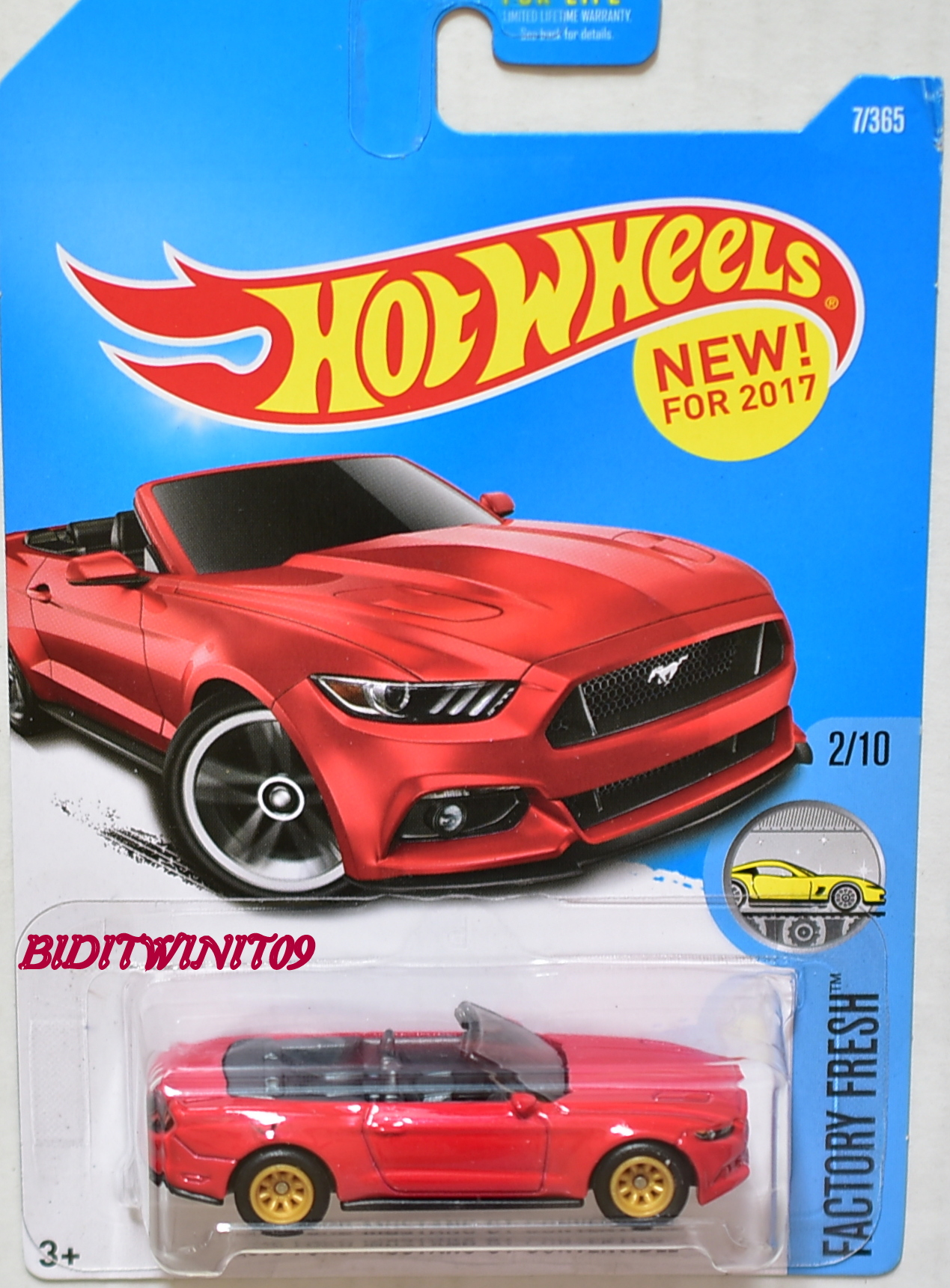 HOT WHEELS FACTORY FRESH 2015 FORD MUSTANG GT CONVERTIBLE CUSTOM MADE E+