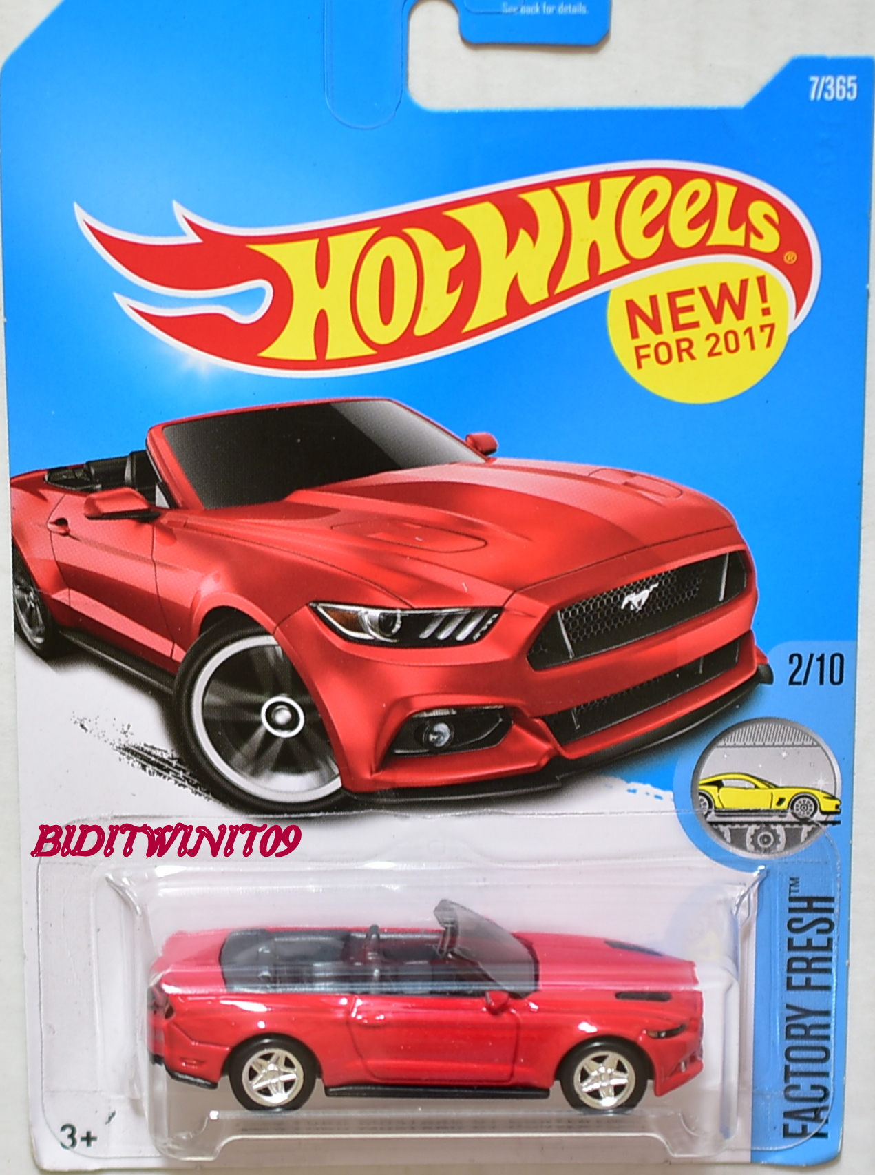 HOT WHEELS FACTORY FRESH 2015 FORD MUSTANG GT CONVERTIBLE RED CUSTOM MADE E+