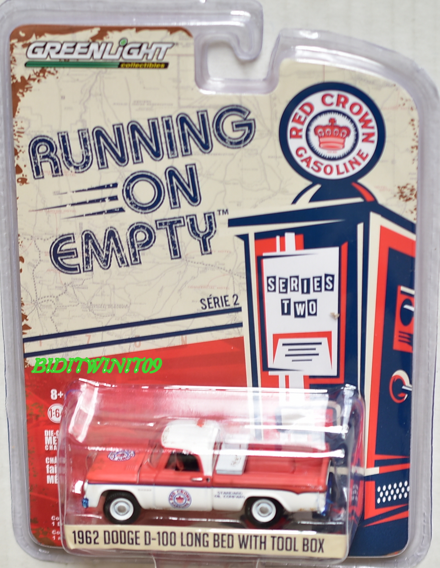GREENLIGHT RUNNING ON EMPTY 1962 DODGE D-100 LONG BED WITH TOOL BOX SERIES 2