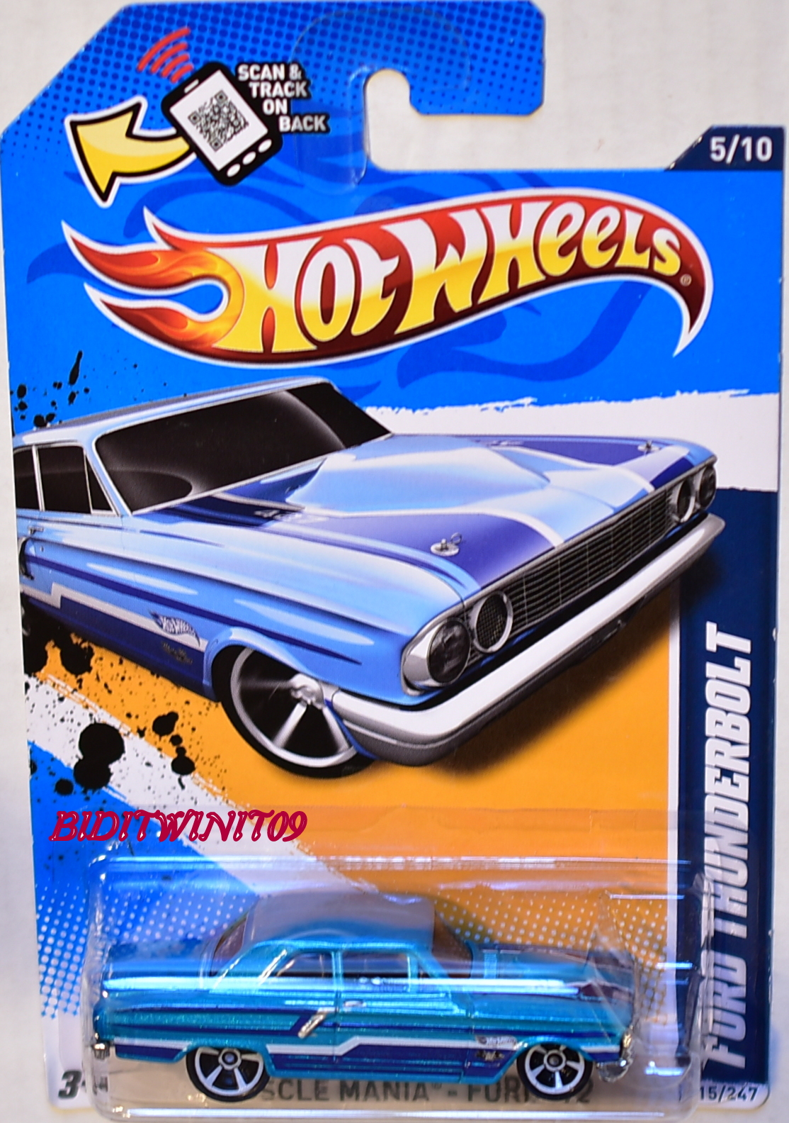 HOT WHEELS 2012 MUSCLE MANIA FORD THUNDERBOLT