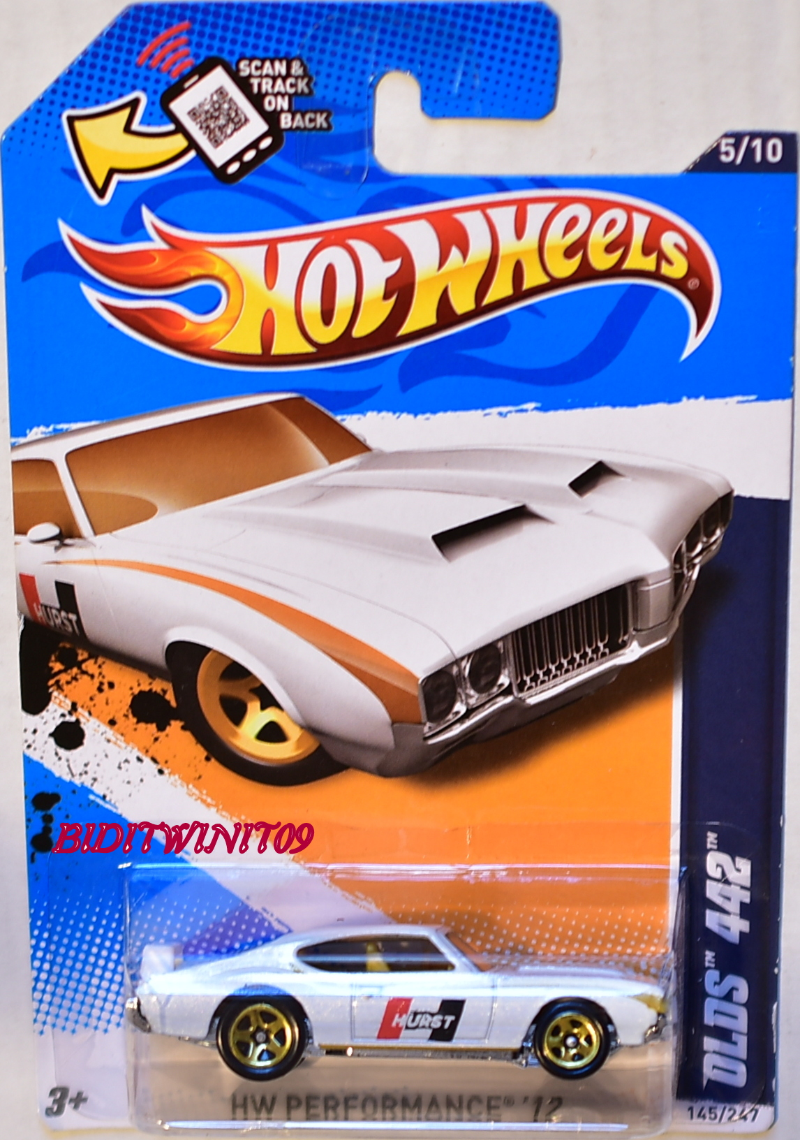 HOT WHEELS 2012 HW PERFORMANCE OLDS 442