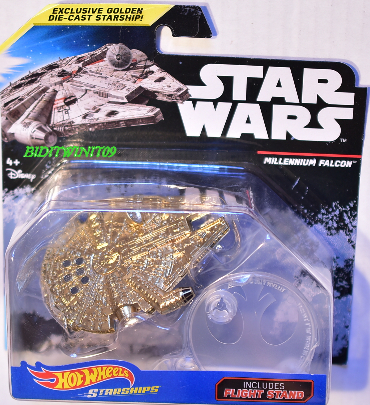 HOT WHEELS 2017 STAR WARS MILLENNIUM FALCON INCLUDES FLIGHT STAND STARSHIPS