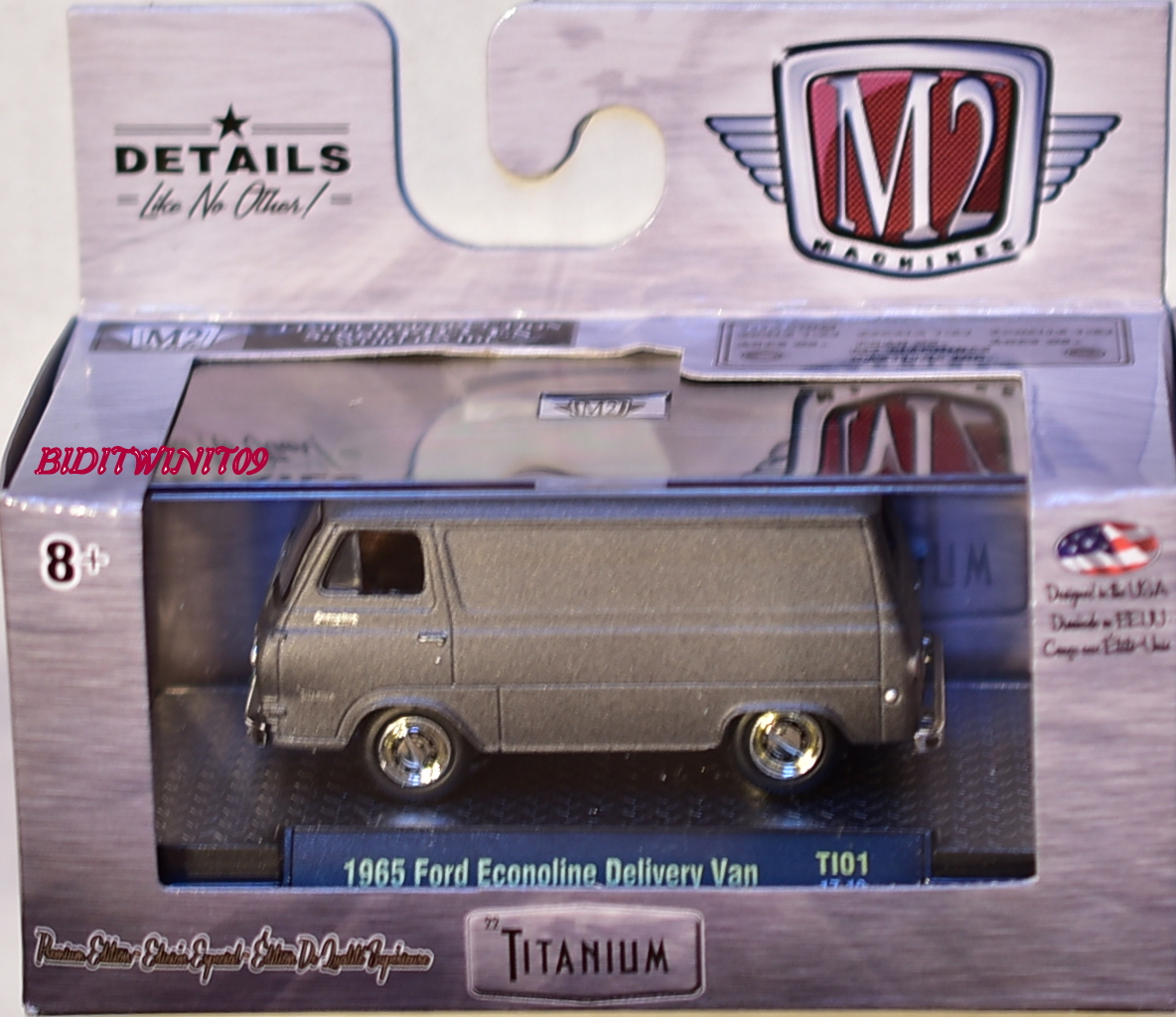 M2 MACHINES TITANIUM 1965 FORD ECONOLINE DELIVERY VAN
