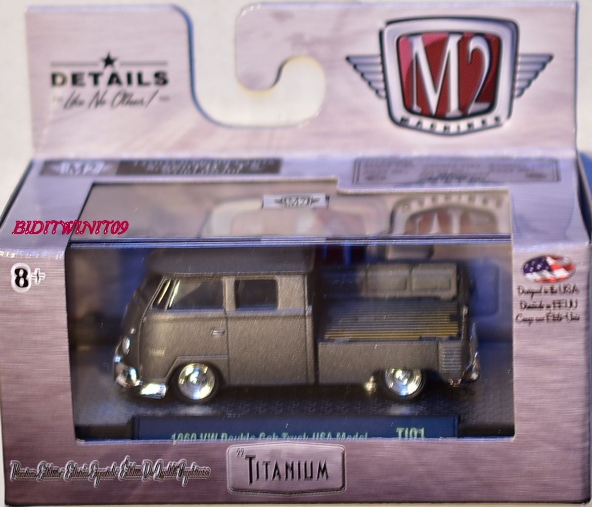 M2 MACHINES TITANIUM 1960 VW DOUBLE CAB TRUCK USA MODEL