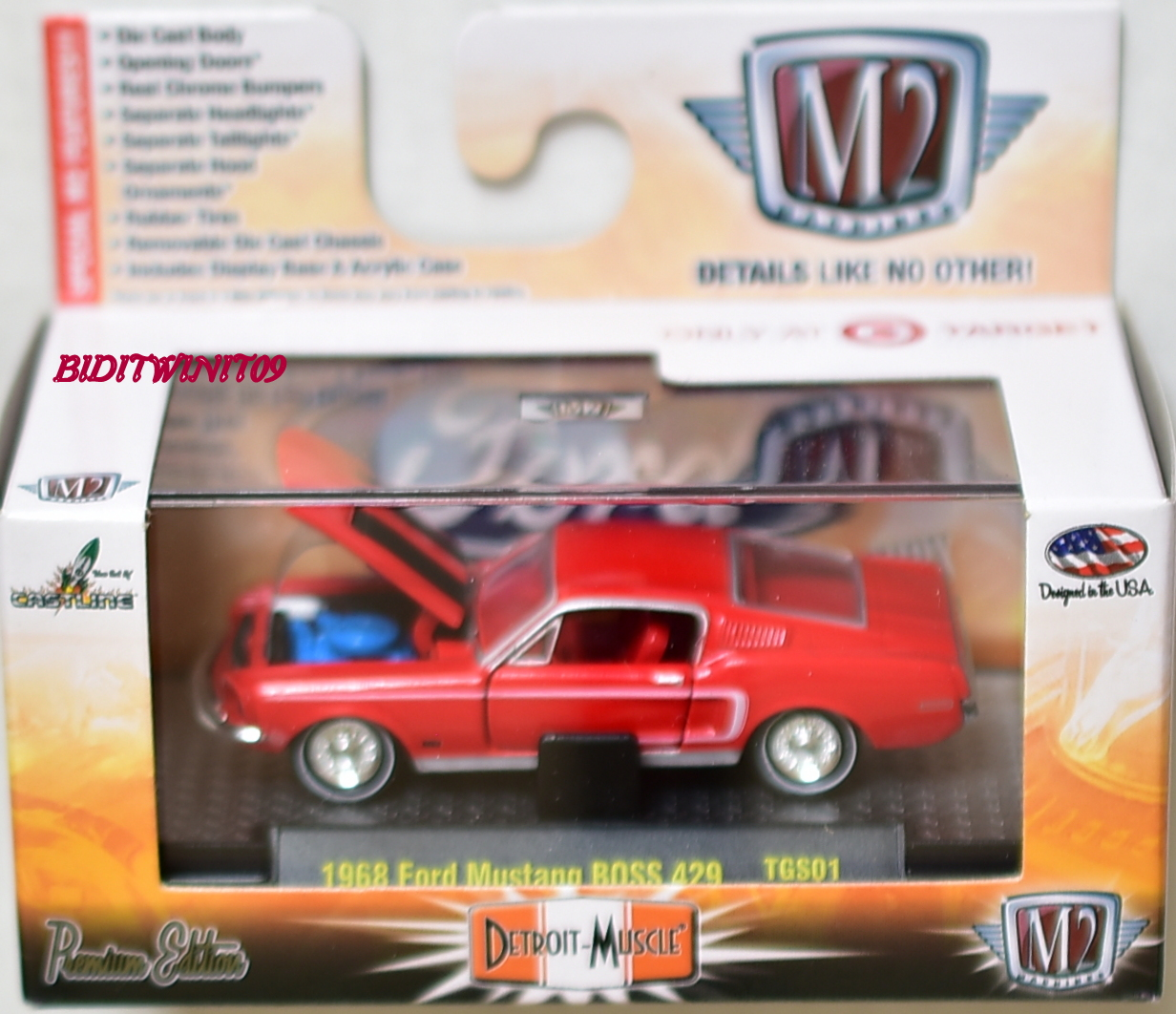 M2 MACHINES DETROIT-MUSCLE 1968 FORD MUSTANG BOSS 429 TARGET EXCLUSIVE