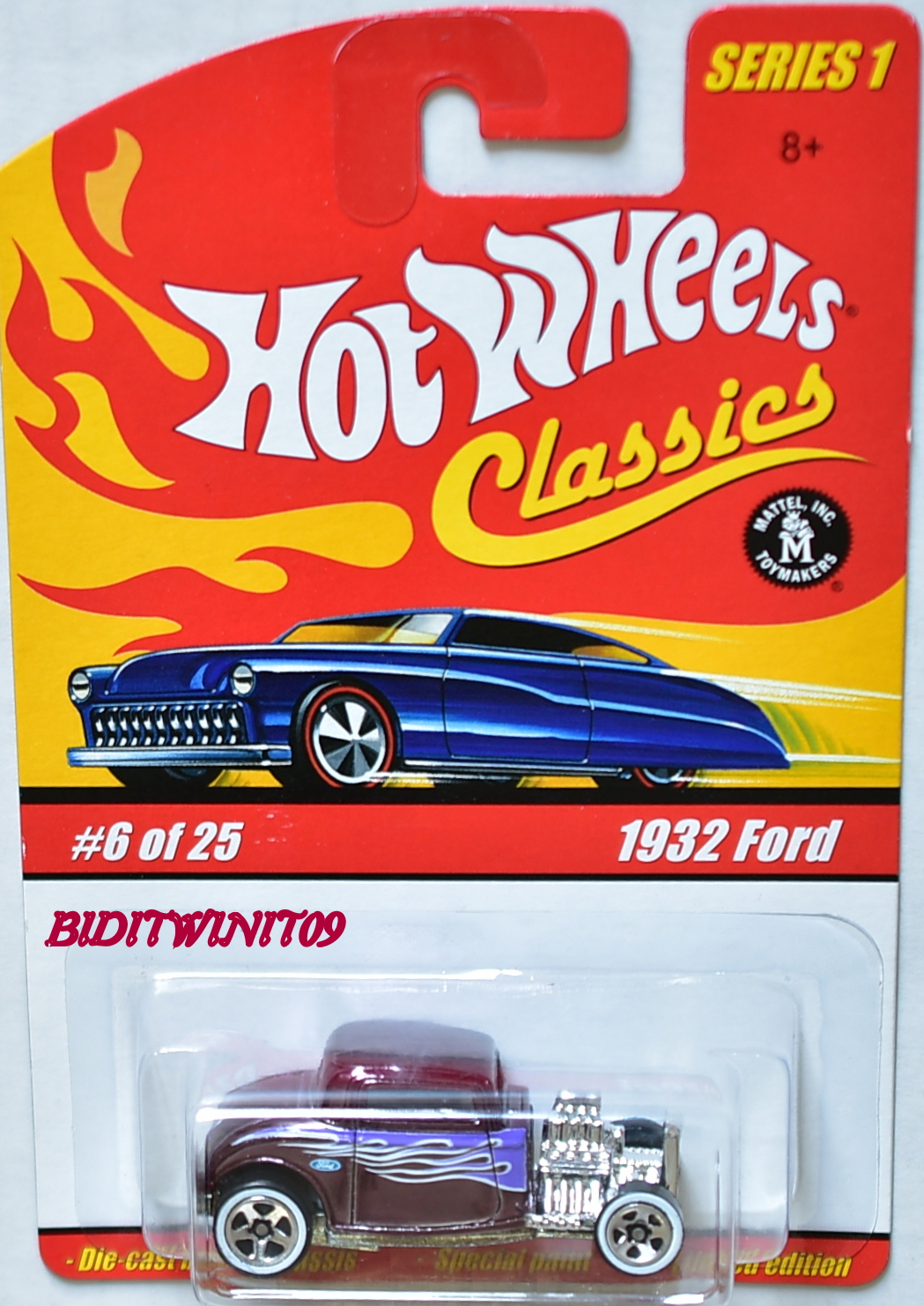 HOT WHEELS CLASSICS SERIES 1 #6/25 1932 FORD LIMITED EDITION E+