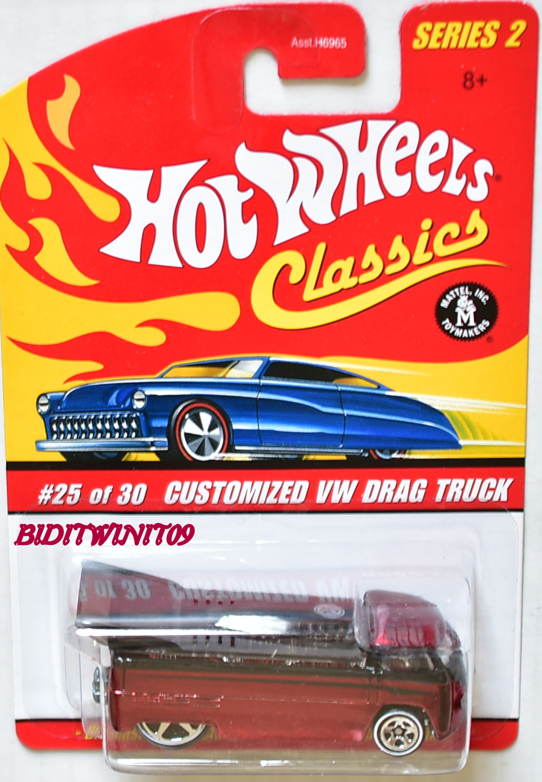 HOT WHEELS CLASSICS SERIES 2 #25/30 CUSTOMIZED VW DRAG TRUCK RED