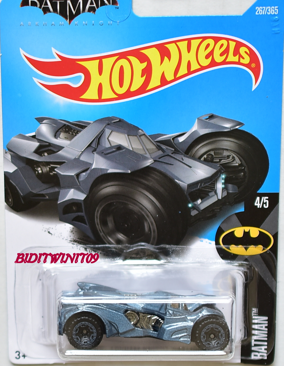 HOT WHEELS 2017 BATMAN ARKHAM KNIGHT BATMOBILE GREY ...