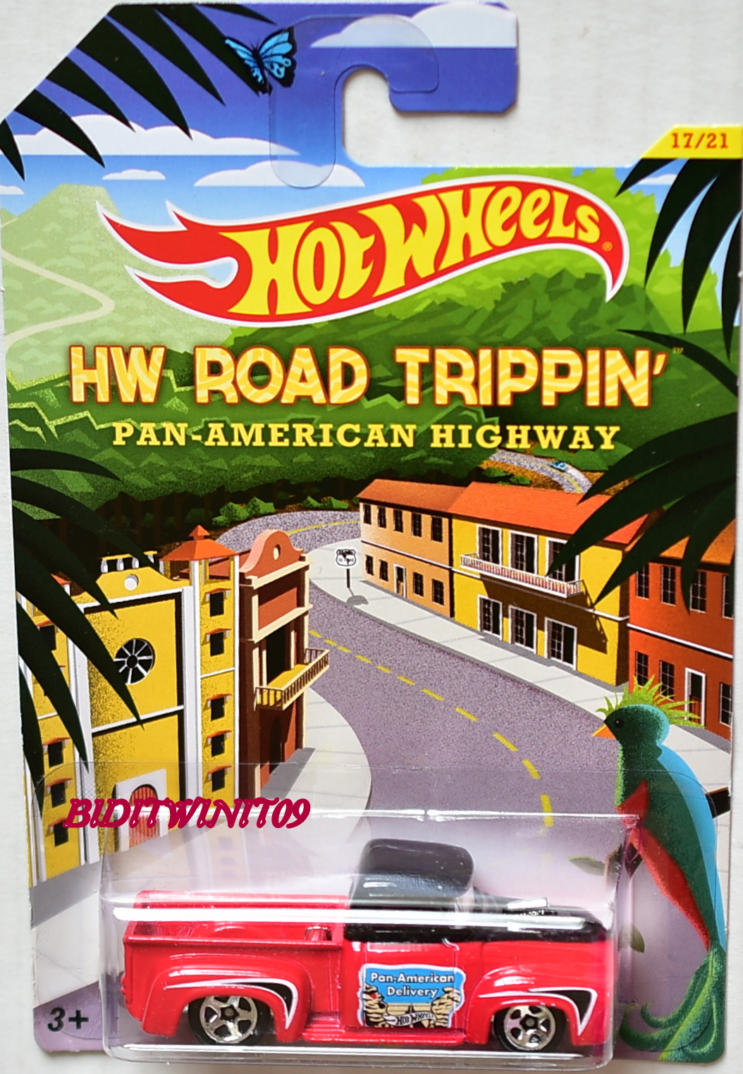 HOT WHEELS HW ROAD TRIPPIN' PAN-AMERICAN HIGHWAY CUSTOM '56 FORD TRUCK