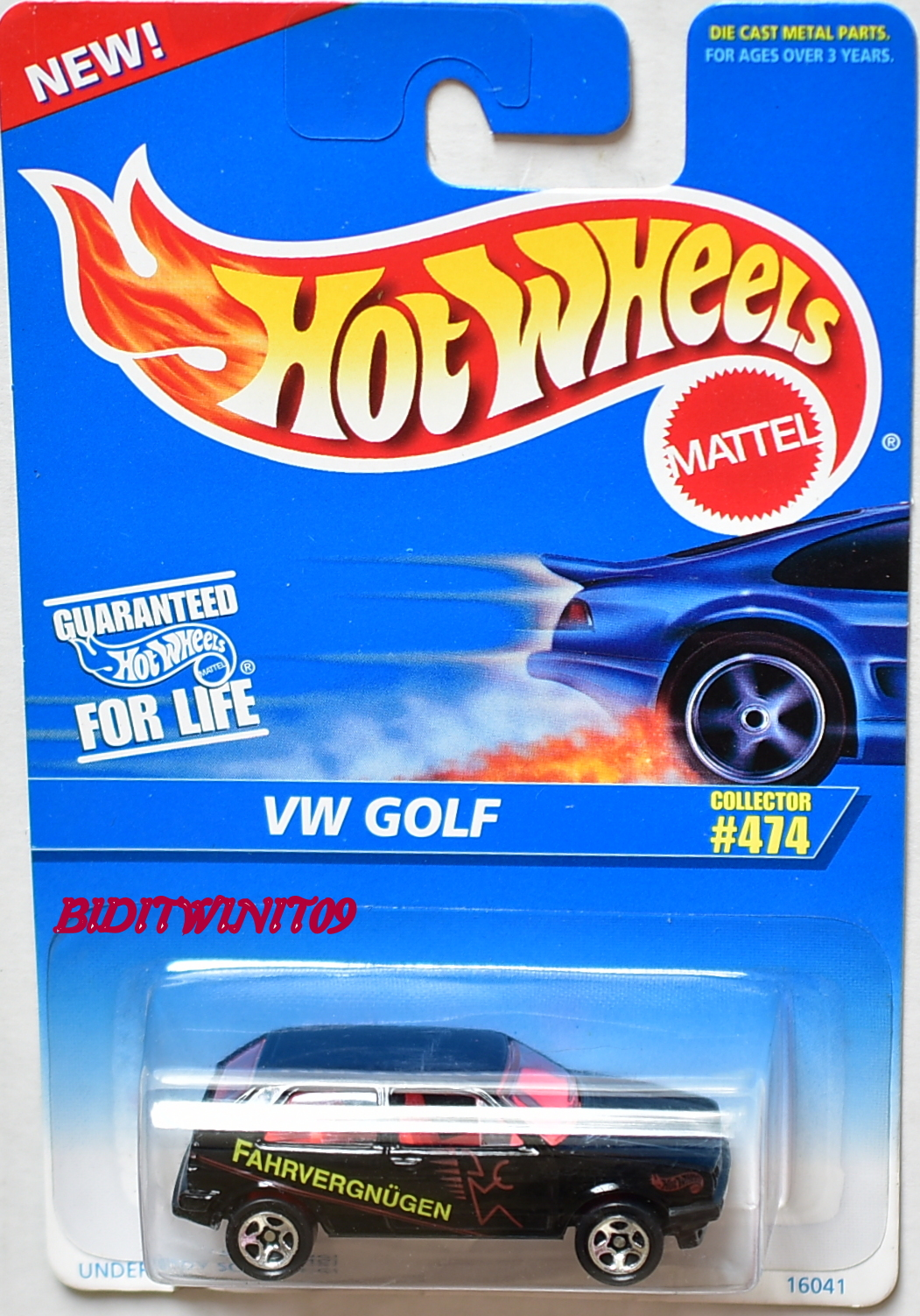HOT WHEELS 1996 VW GOLF #474 W/ TAMPO