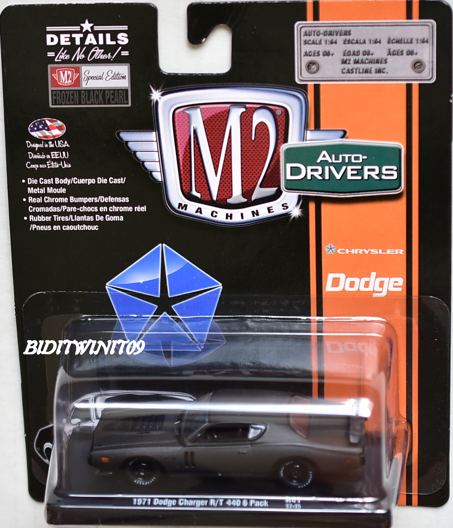 M2 MACHINES AUTO - DRIVERS 1971 DODGE CHARGER R/T 440 6 PACK R41