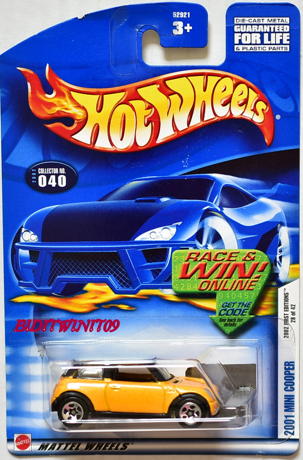 HOT WHEELS 2002 FIRST EDITIONS 2001 MINI COOPER #040