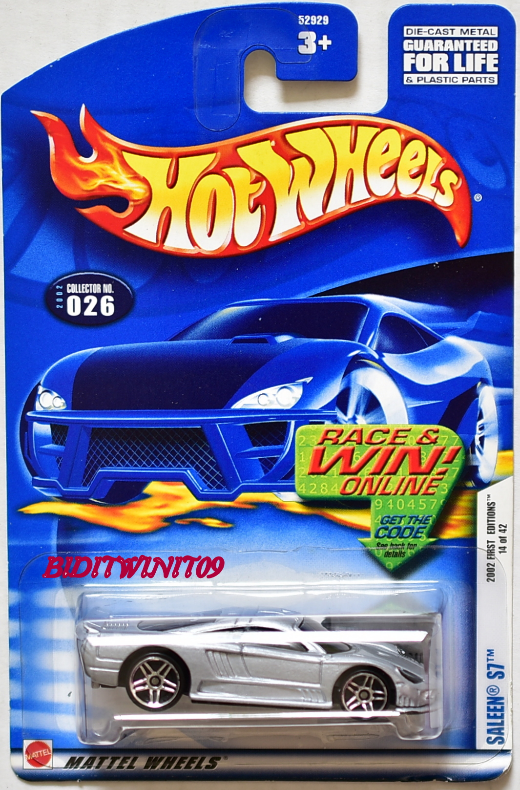 HOT WHEELS 2002 FIRST EDITIONS SALEEN S7 #026 WITHOUT BLACK LINE WINDOWS