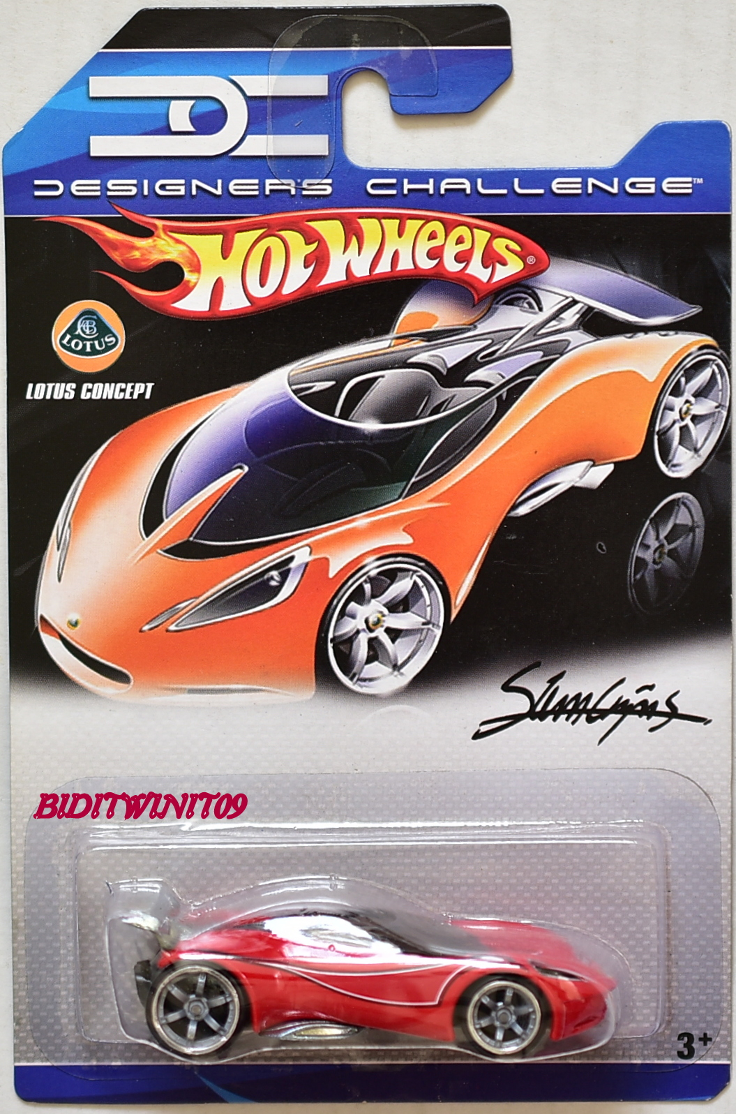 HOT WHEELS 2007 DESIGNERS CHALLENGE LOTUS CONCEPT RED