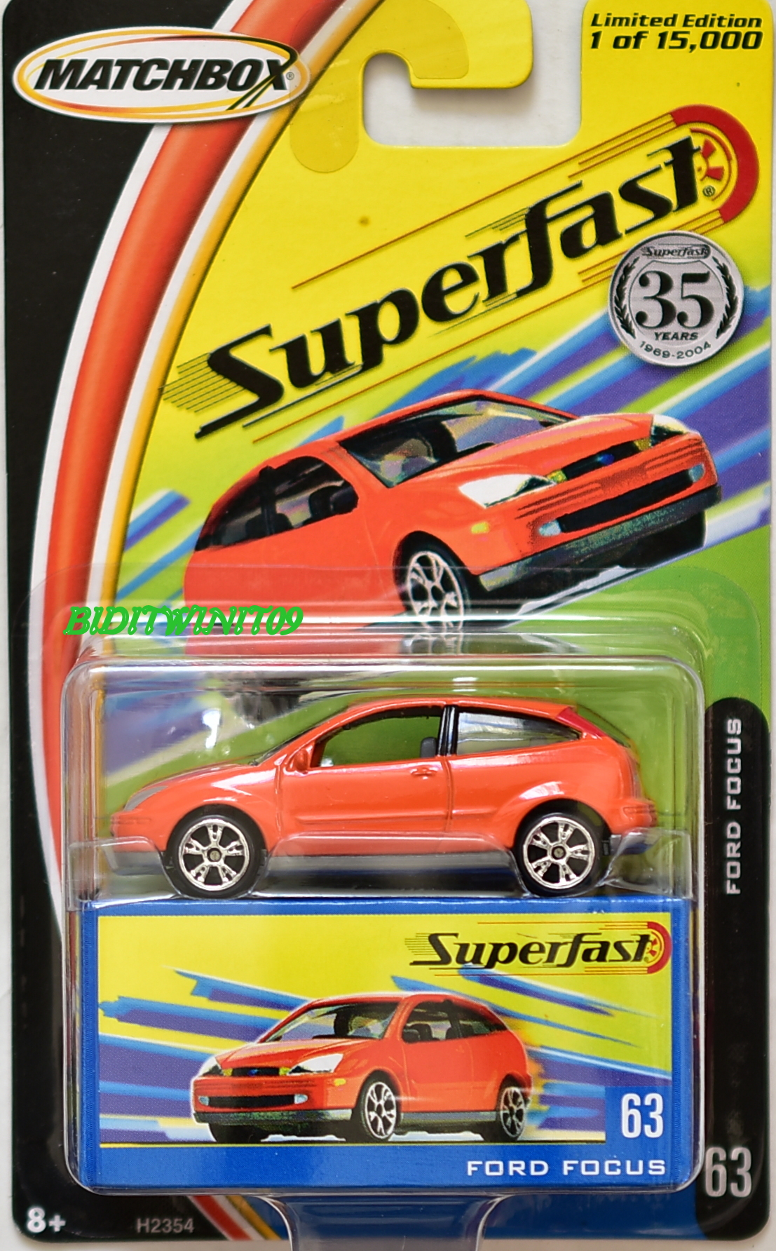 MATCHBOX 2004 35YRS SUPERFAST FORD FOCUS #63