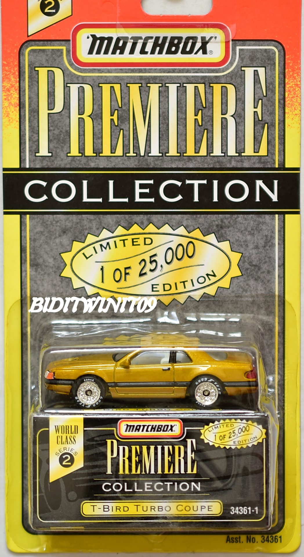 MATCHBOX PREMIERE COLLECTION T-BIRD TURBO COUPE #34361 E+