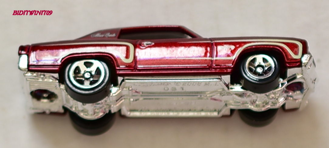 HOT WHEELS 2012 MYSTERY MODELS '70 MONTE CARLO #13 LOOSE E+