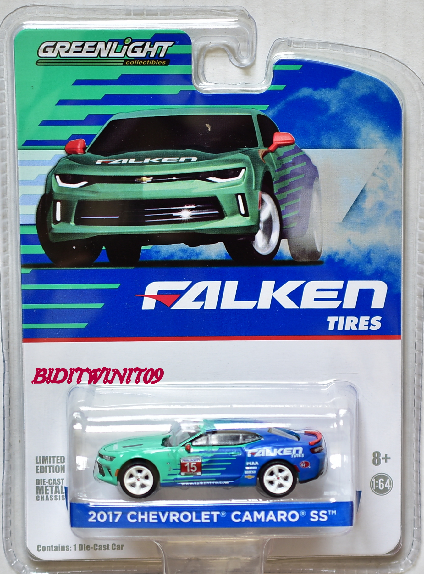 GREENLIGHT COLLECTIBLES 2017 CHEVROLET CAMARO SS FALKEN TIRES