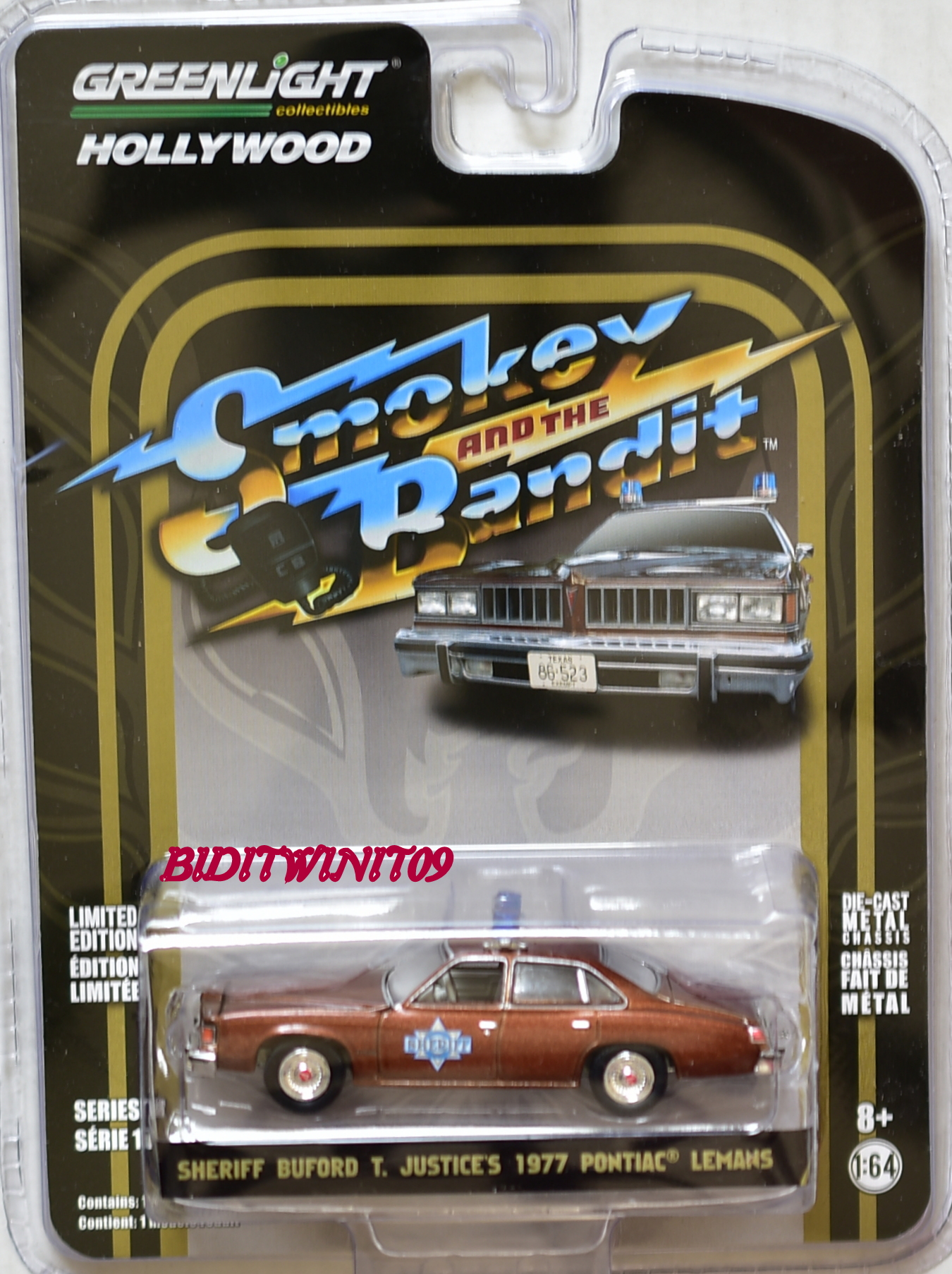 GREENLIGHT HOLLYWOOD SERIES 18 SHERIFF BUFORD T. JUSTICES 1977 PONTIAC LEMANS