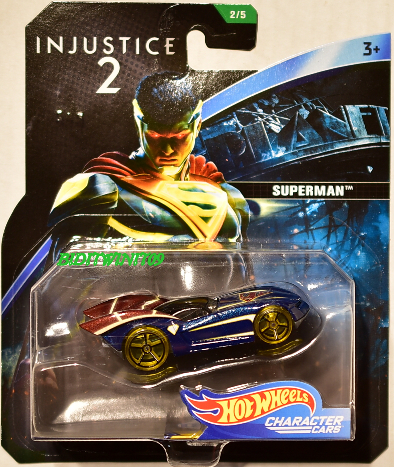 hot wheels 2018 dc comics injustice 2 super man character cars 0007092 biditwinit09. Black Bedroom Furniture Sets. Home Design Ideas