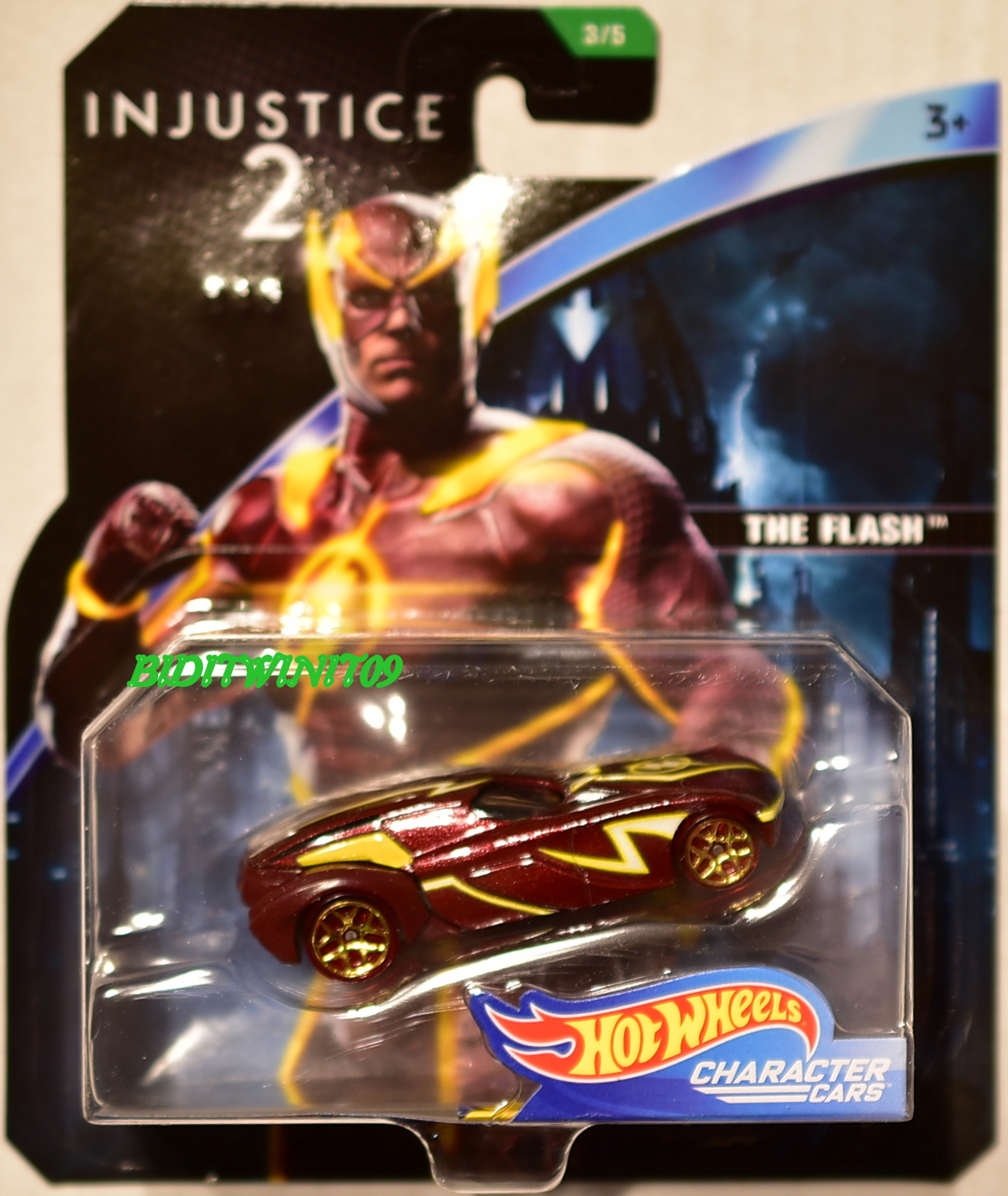 HOT WHEELS 2018 DC COMICS INJUSTICE 2 THE FLASH CHARACTER CARS