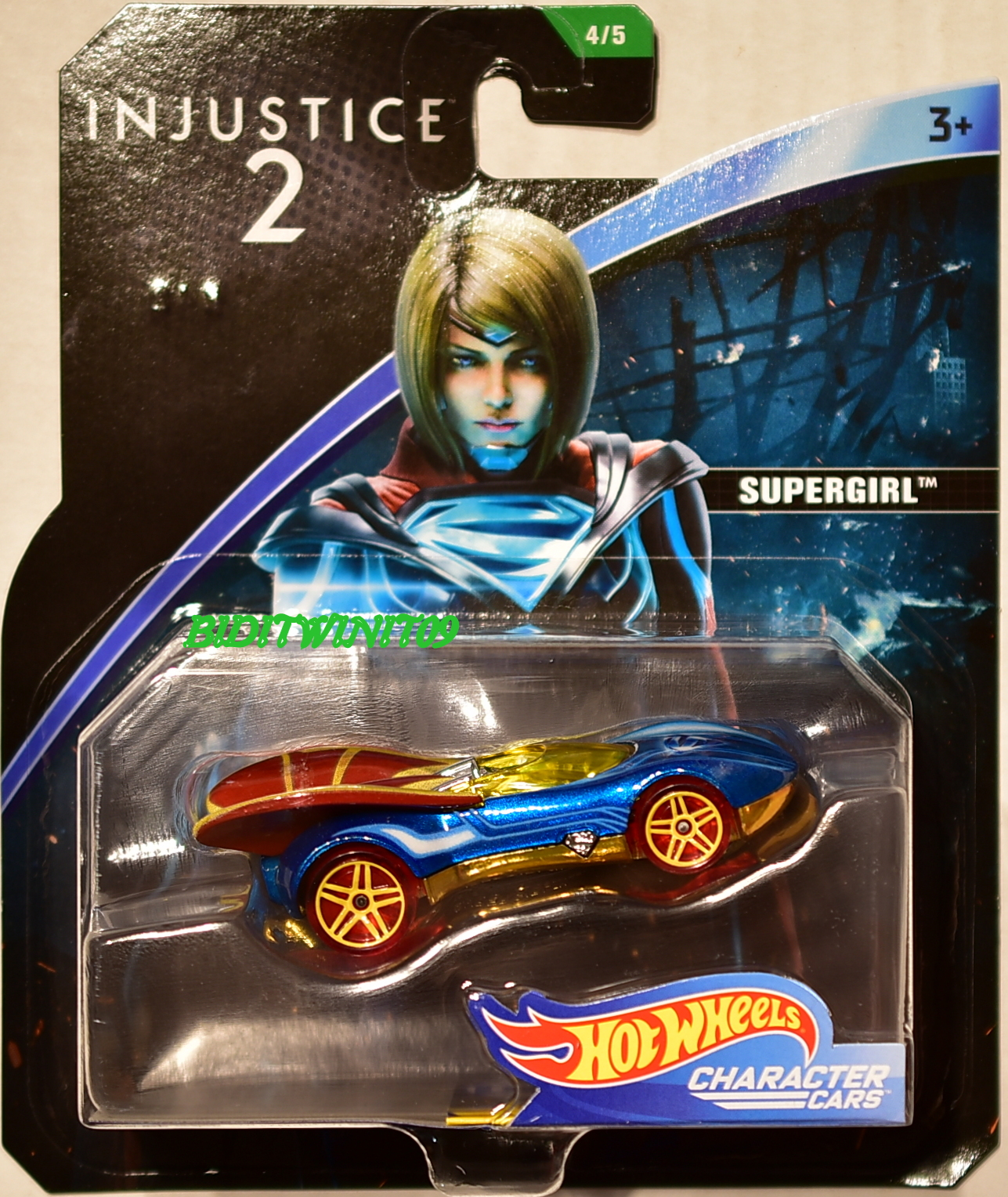 HOT WHEELS 2018 DC COMICS INJUSTICE 2 SUPERGIRL CHARACTER CARS