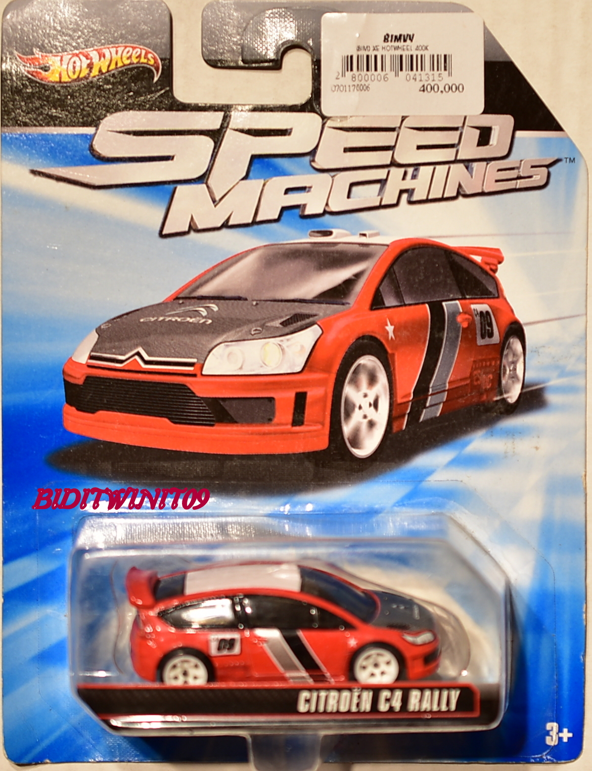 HOT WHEELS SPEED MACHINES CITROEN C4 RAILLY RED E+