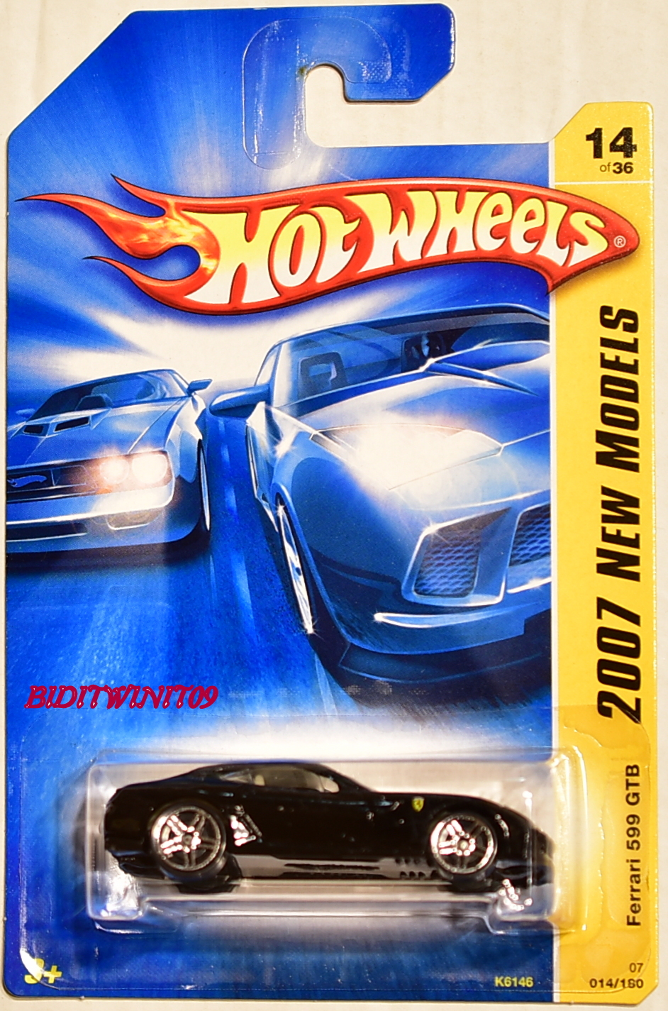 HOT WHEELS 2007 NEW MODELS FERRARI 599 GTB BLACK