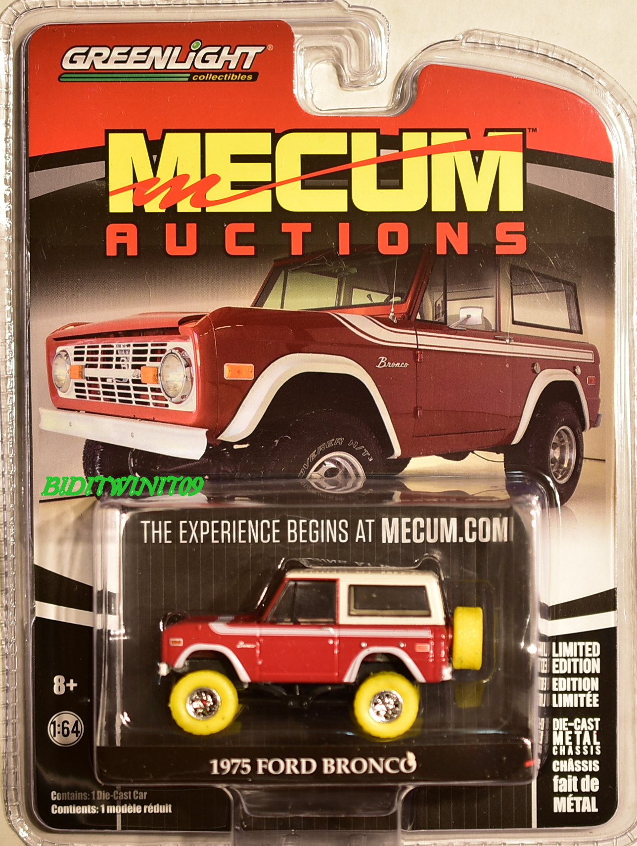GREENLIGHT 2017 MECUM AUCTIONS 1975 FORD BRONCO GREEN MACHINE ...