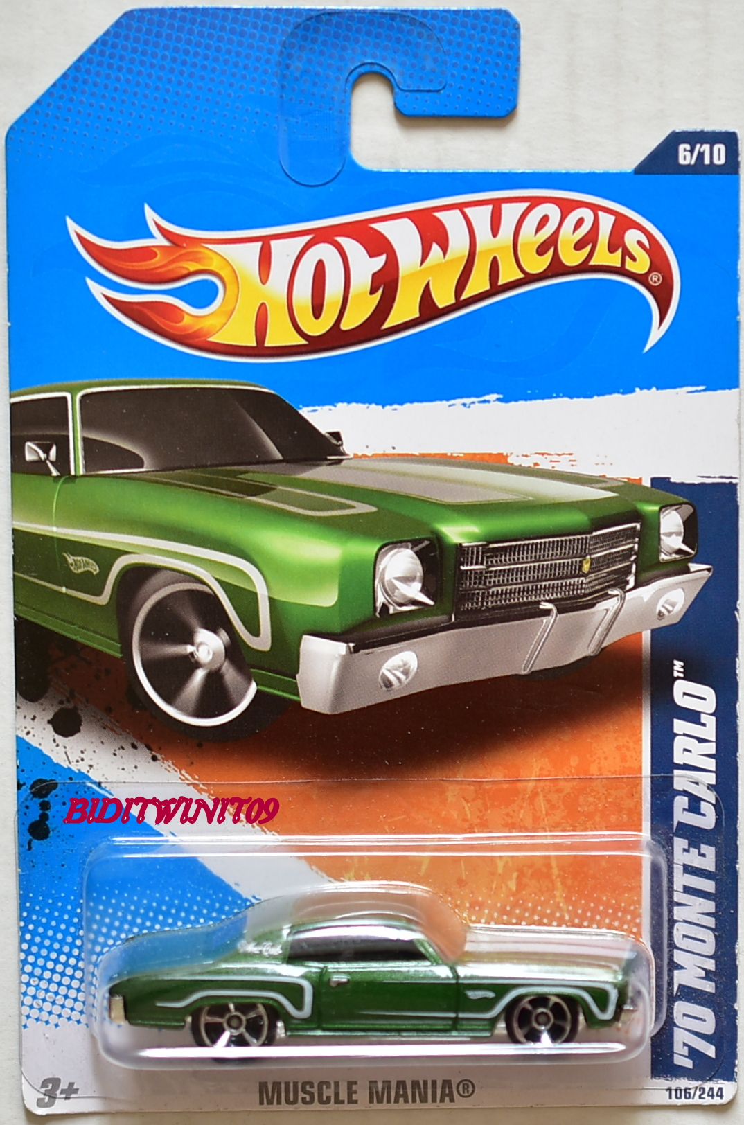 HOT WHEELS 2011 '70 MONTE CARLO #06/10 MUSCLE MANIA