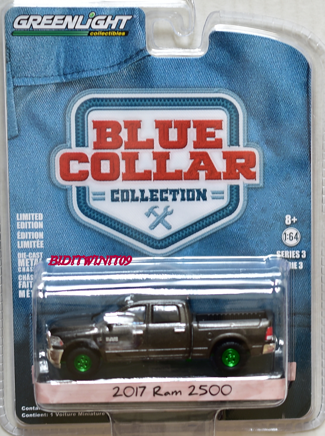GREENLIGHT BLUE COLLAR SERIES 3 2017 RAM 2500 GREEN MACHINE E+