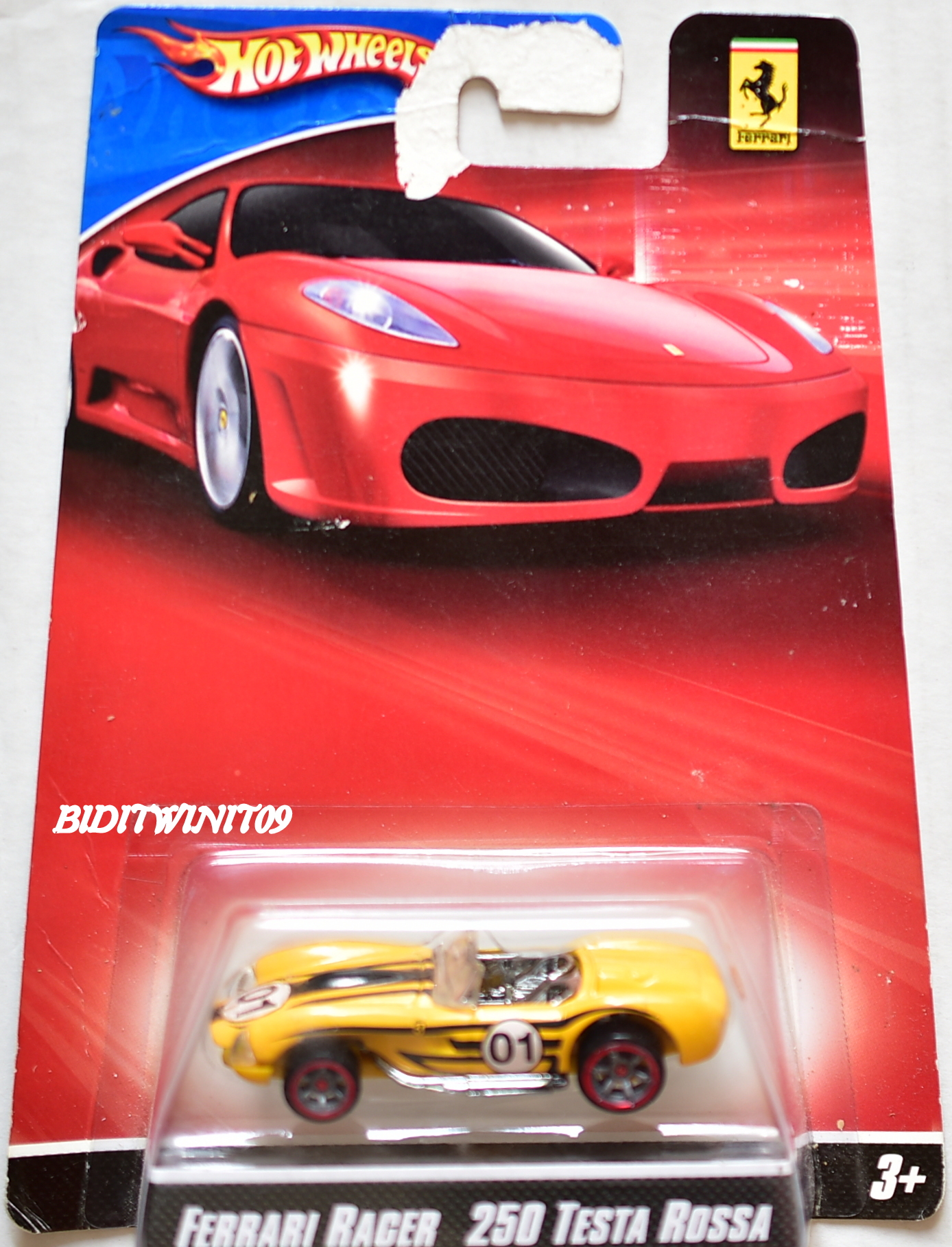 hot wheels ferrari racer 250 testa rossa yellow bad card. Black Bedroom Furniture Sets. Home Design Ideas