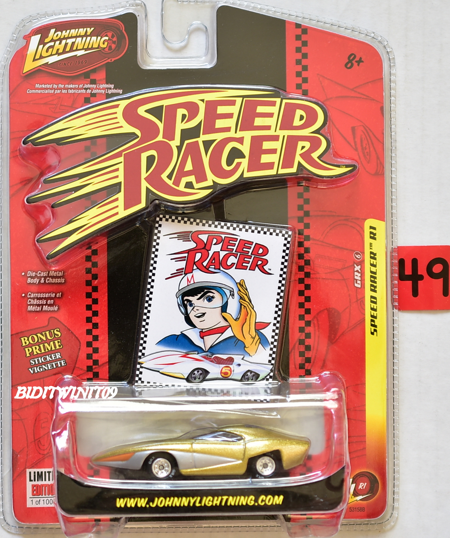 JOHNNY LIGHTNING SPEED RACER R1 GRX #6 E+