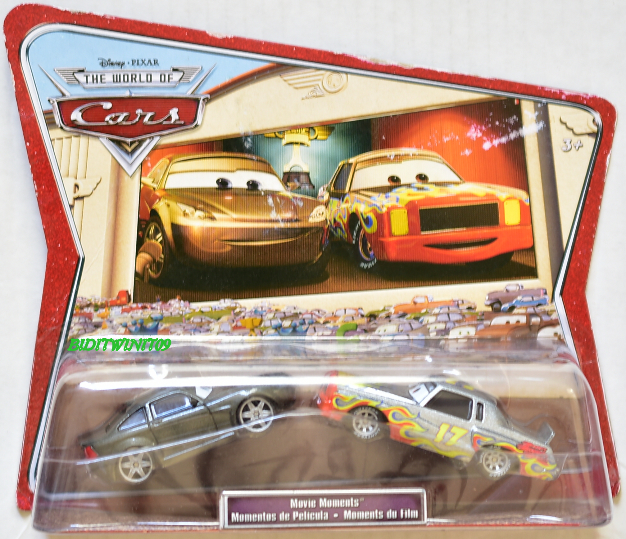 DISNEY PIXAR THE WORLD OF CARS 2 CAR PACK BOB CUTLASS & DARRELL CARTRIP E+