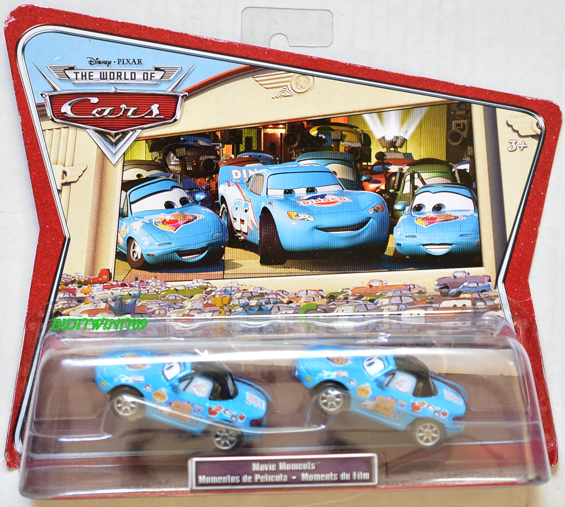 DISNEY PIXAR THE WORLD OF CARS 2 CAR PACK MIA & TIA E+
