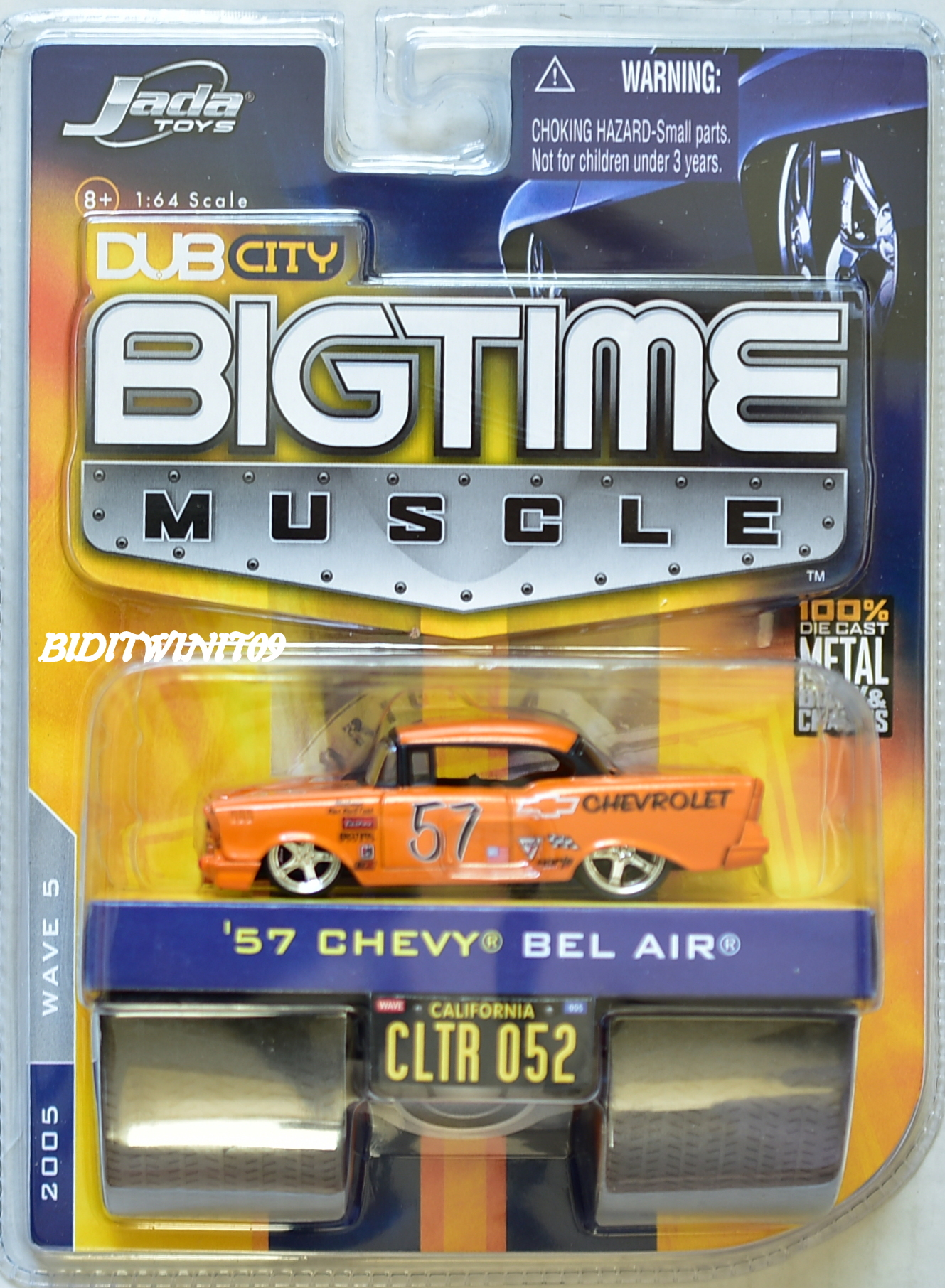 JADA DUB CITY BIGTIME MUSCLE '57 CHEVY BEL AIR CLTR 052