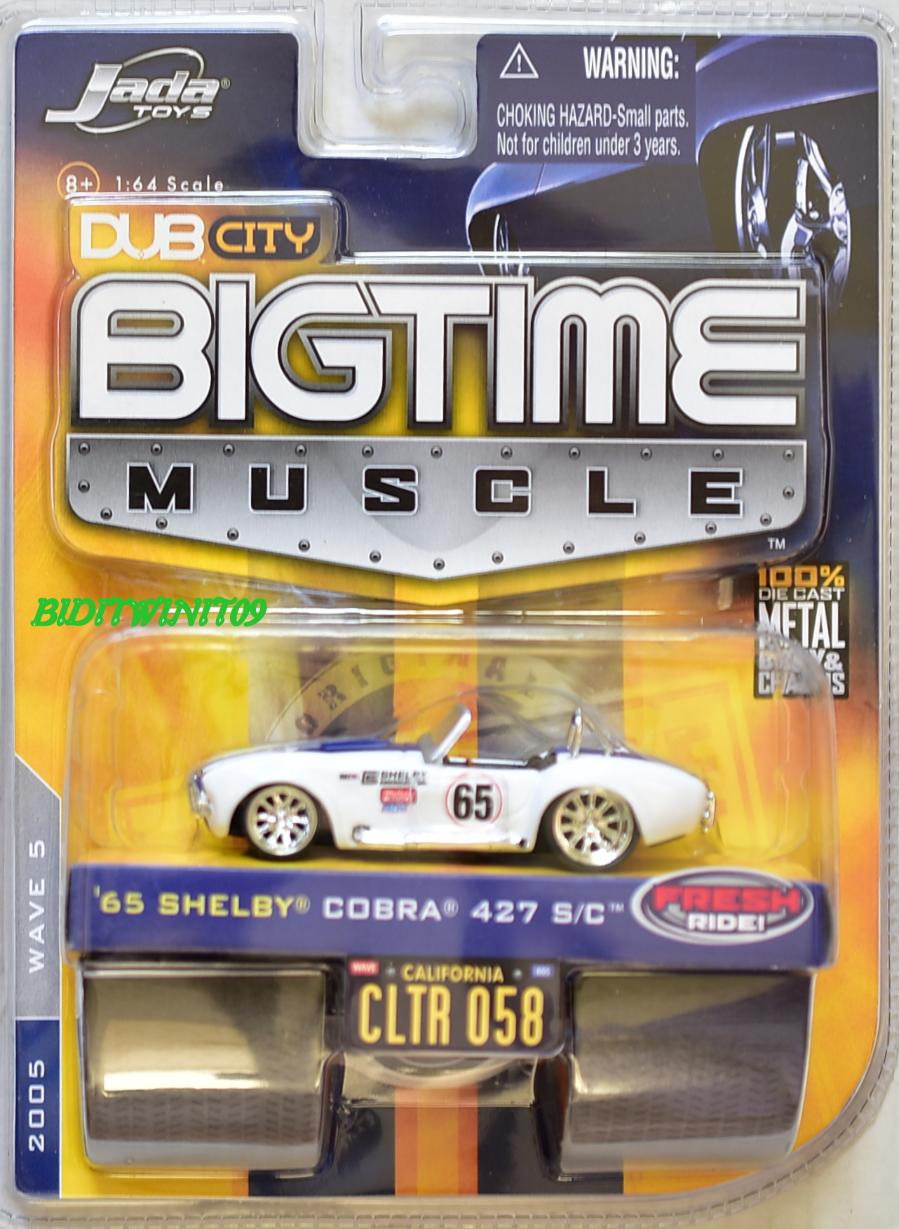 JADA DUB CITY BIGTIME MUSCLE '65 SHELBY COBRA 427 S/C CLTR 058 WHITE E+