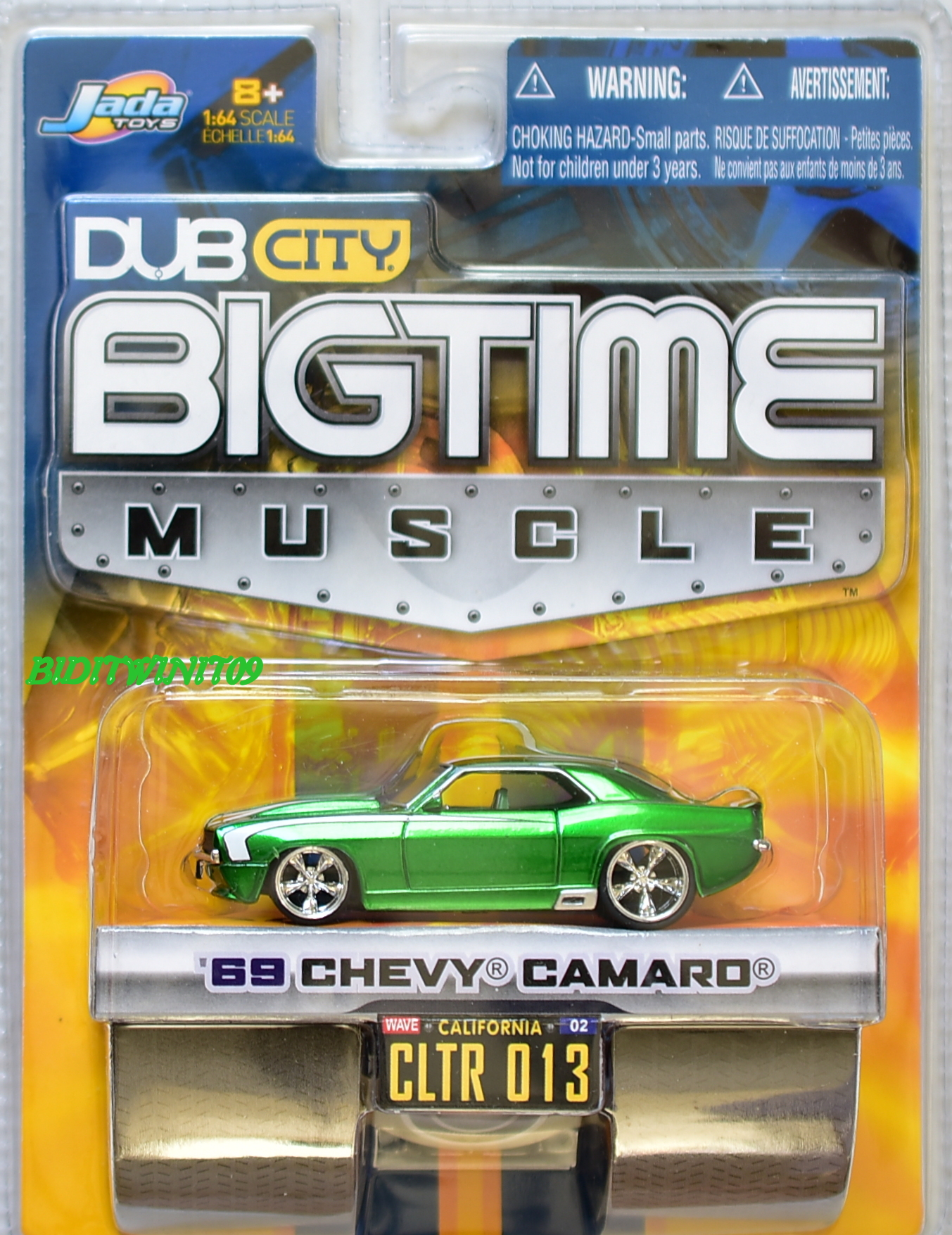 JADA DUB CITY BIGTIME MUSCLE '69 CHEVY CAMARO GREEN CLTR 013