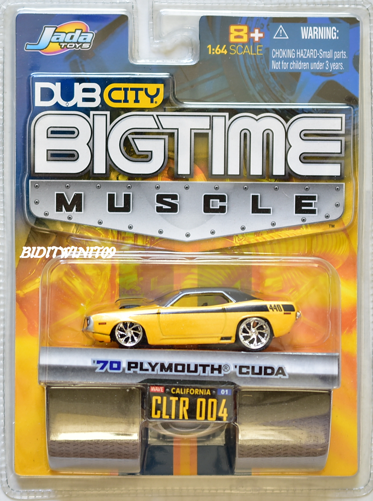 JADA DUB CITY BIGTIME MUSCLE '70 PLYMOUTH CUDA CLTR 004 YELLOW