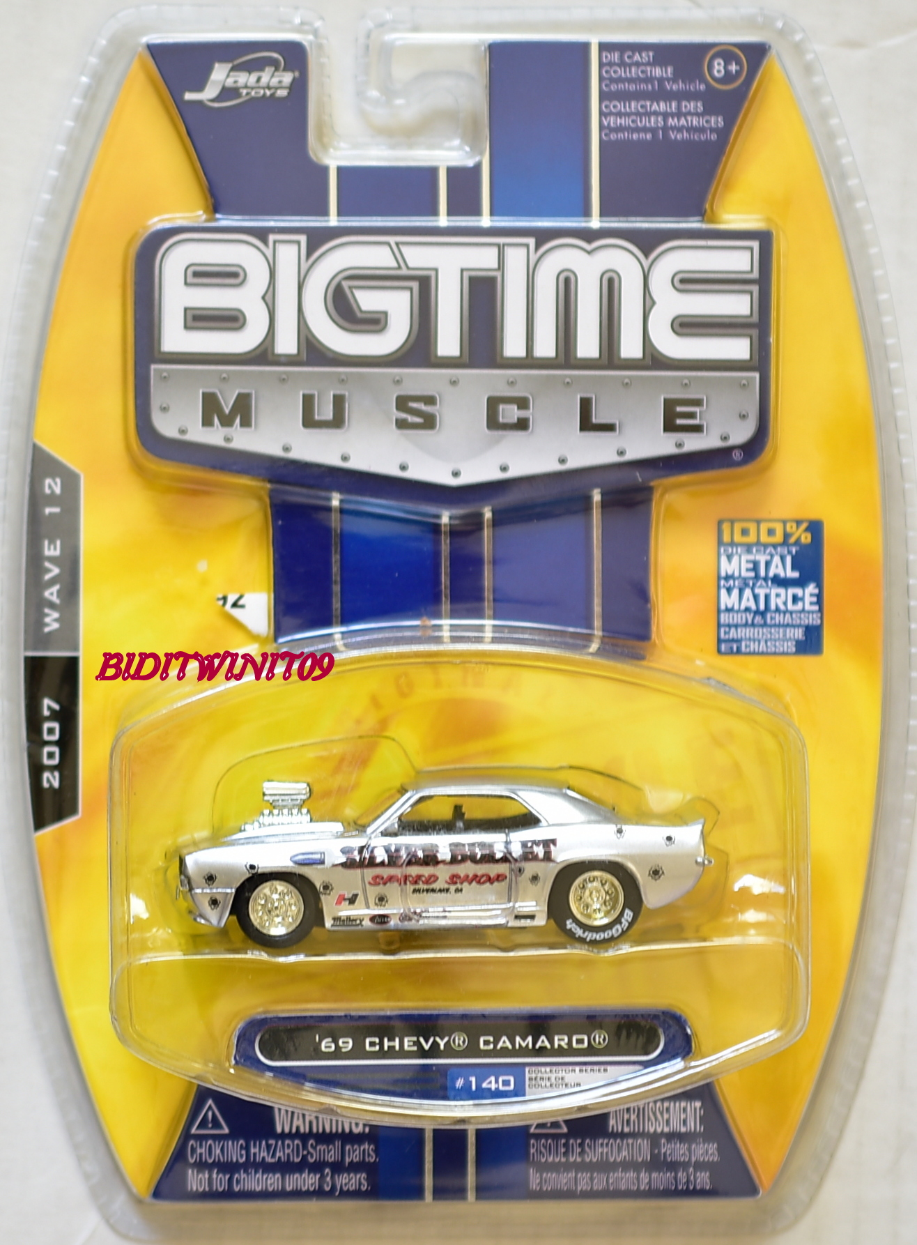 JADA TOYS 2007 BIGTIME MUSCLE '69 CHEVY CAMARO #140 WAVE 12