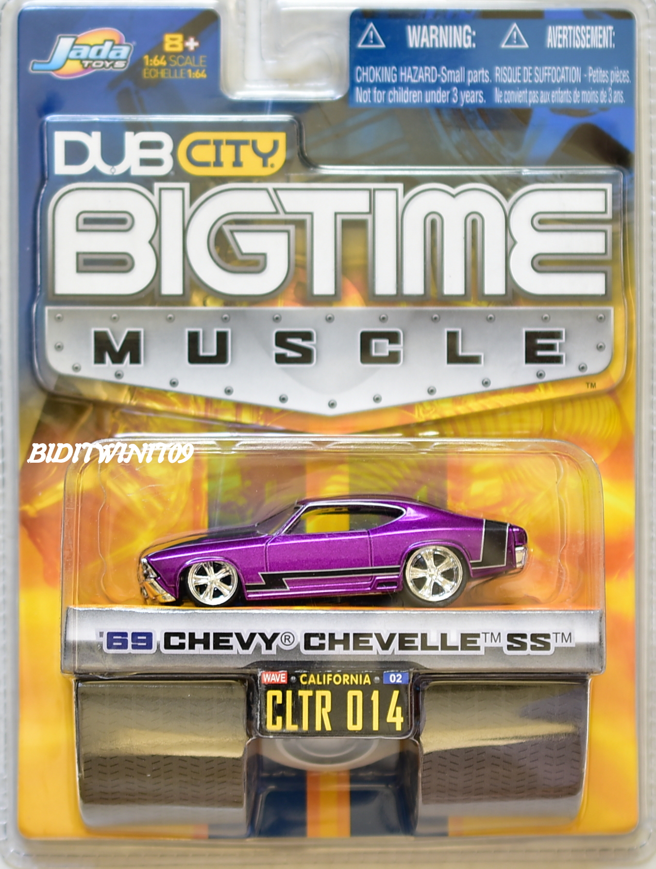 JADA DUB CITY BIGTIME MUSCLE '69 CHEVY CHEVELLE SS CLTR 014 PURPLE